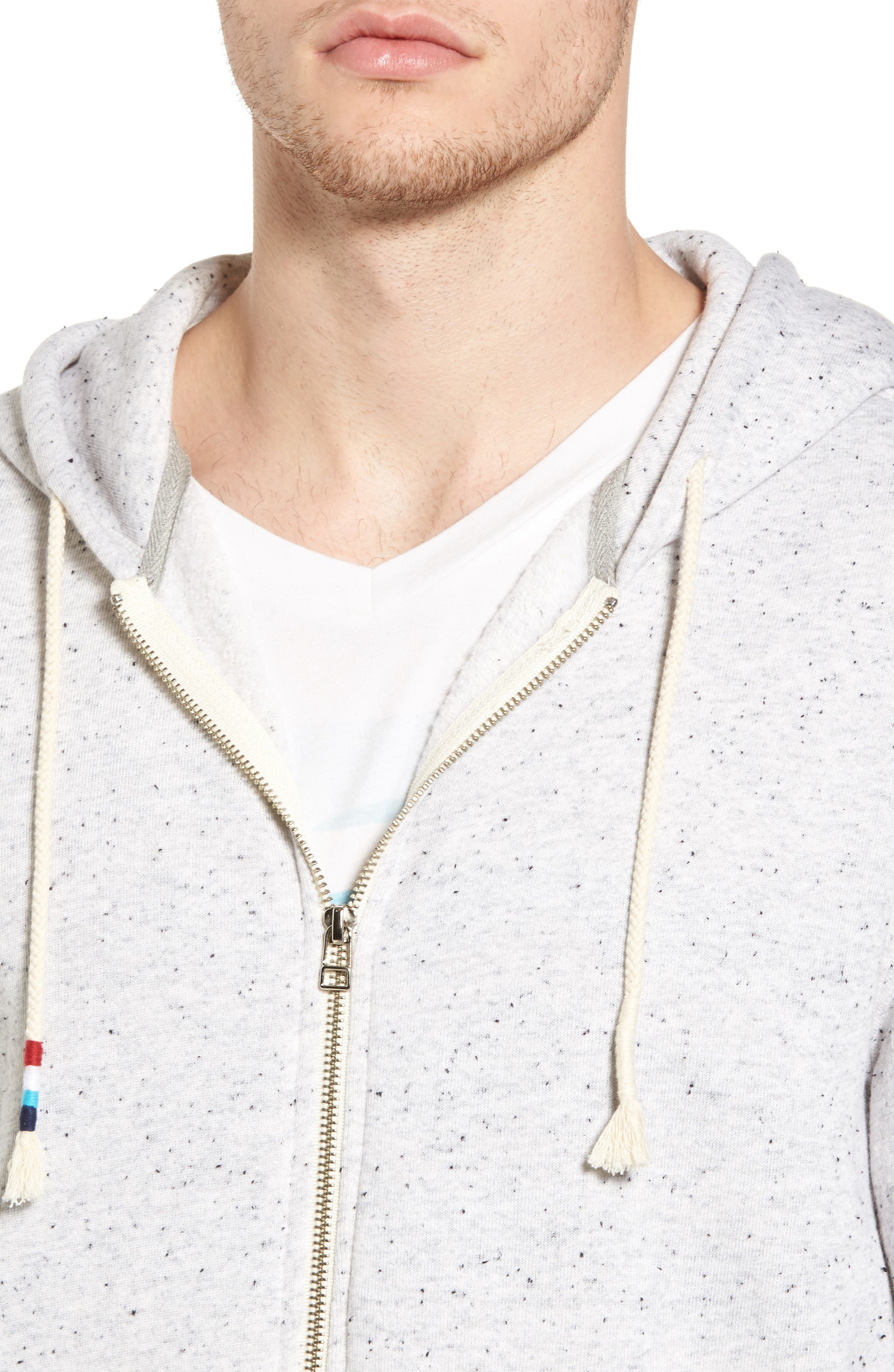 Peppered French Terry Hoodie,                             Alternate thumbnail 4, color,                             050