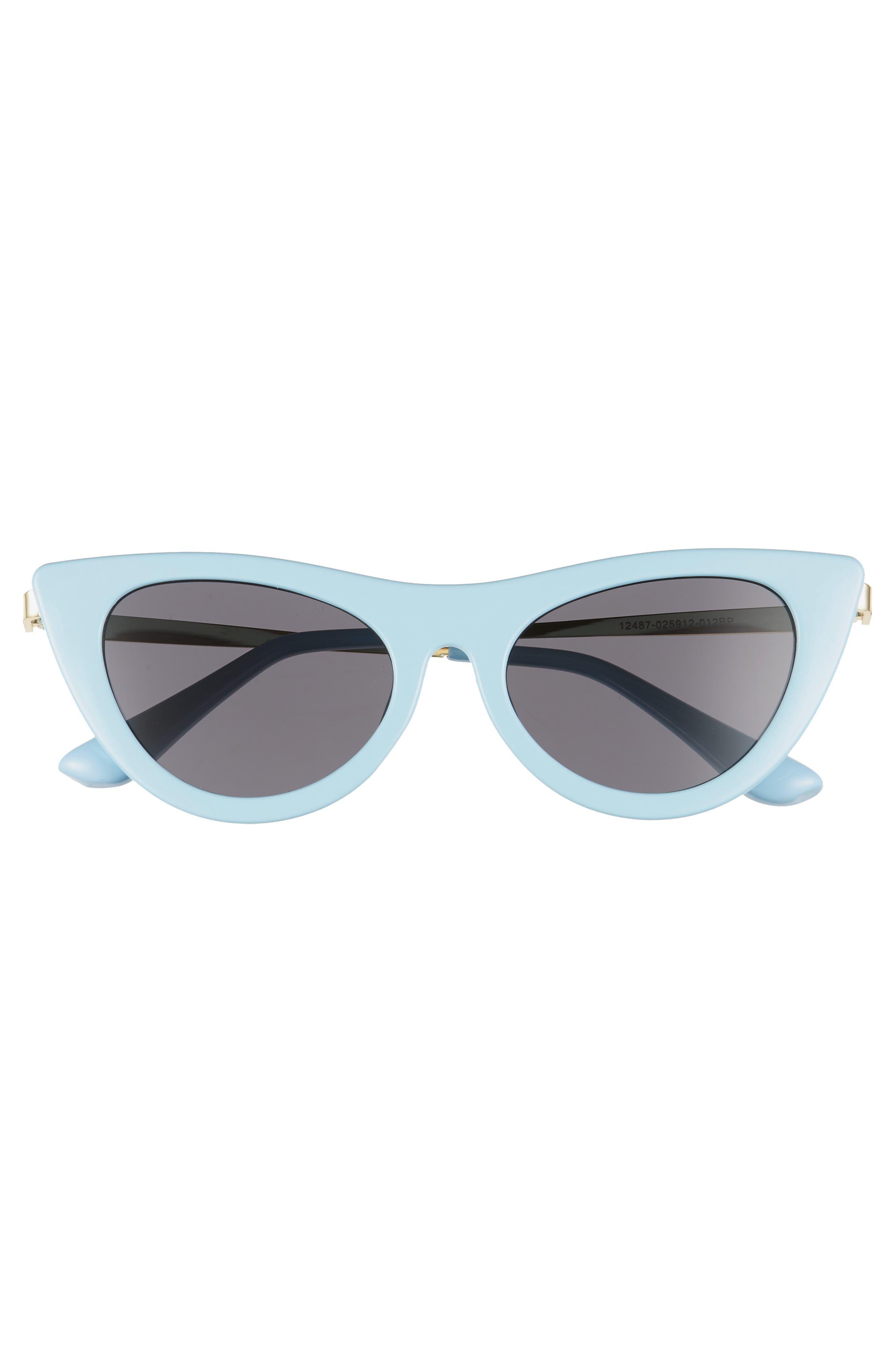 BP.,                             50mm Cat Eye Sunglasses,                             Alternate thumbnail 3, color,                             GOLD/ BLUE