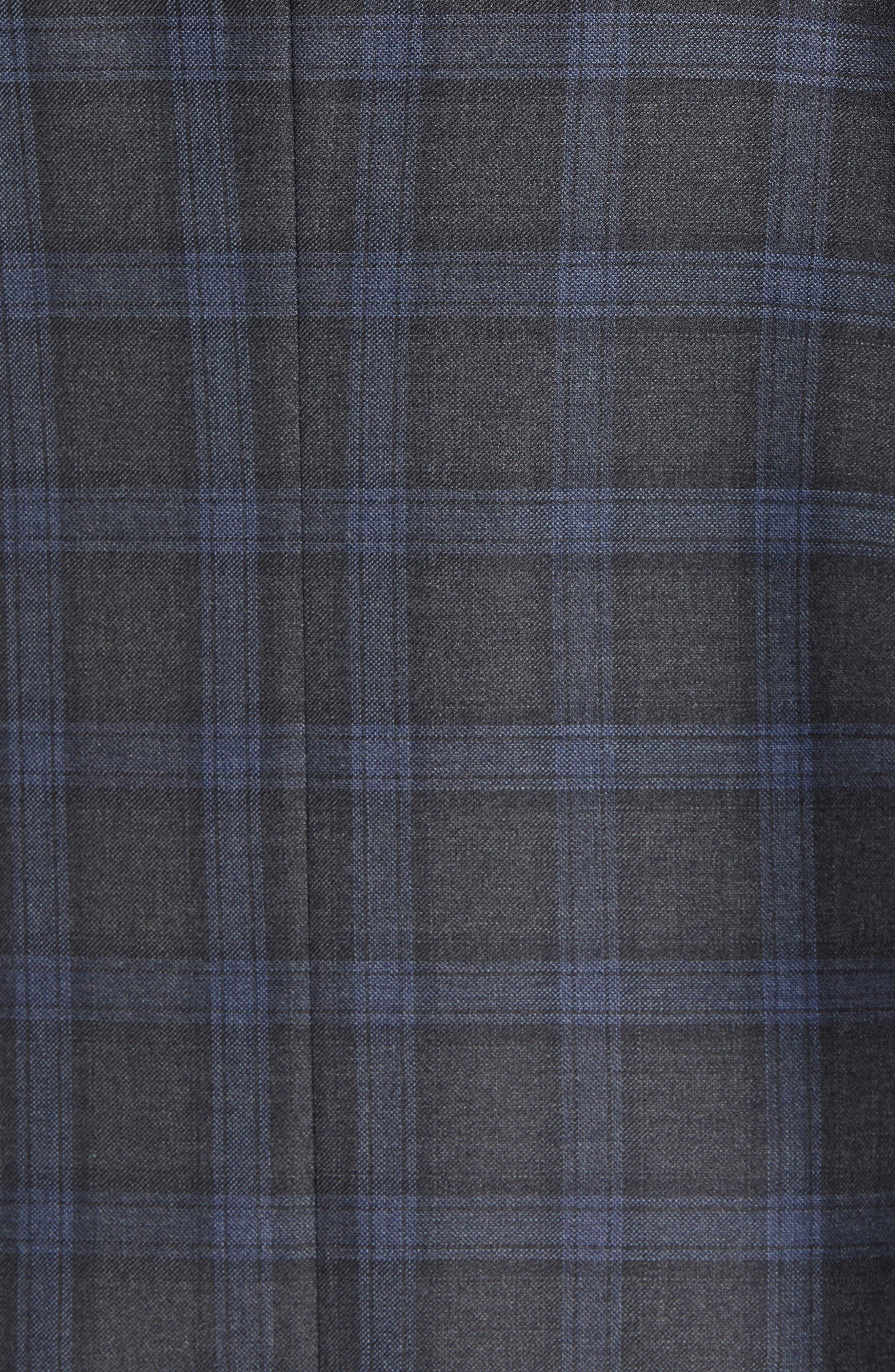Classic Fit Windowpane Wool Sport Coat,                             Alternate thumbnail 6, color,                             GREY