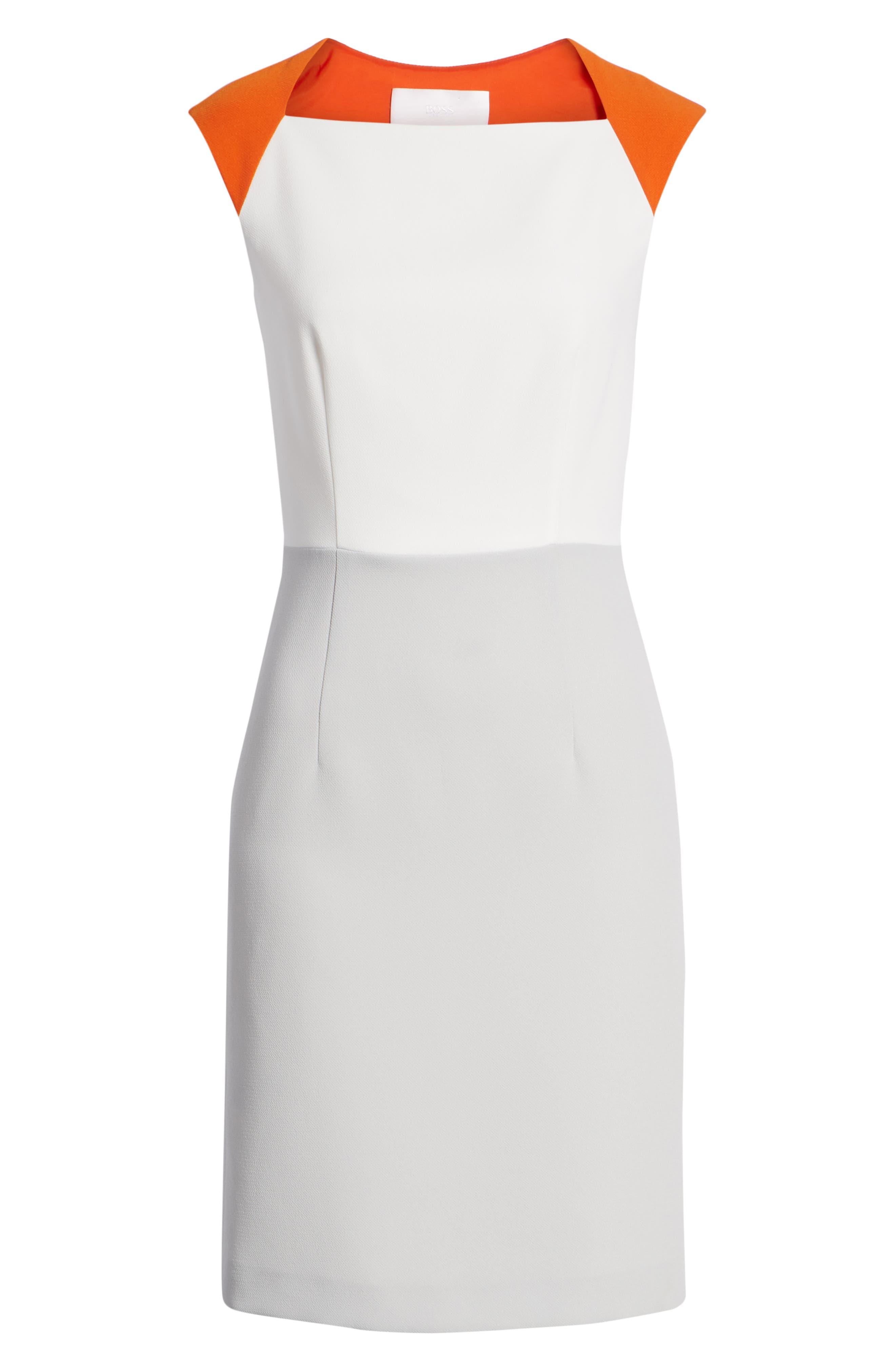 Dekala Colorblock Sheath Dress,                             Alternate thumbnail 7, color,                             021