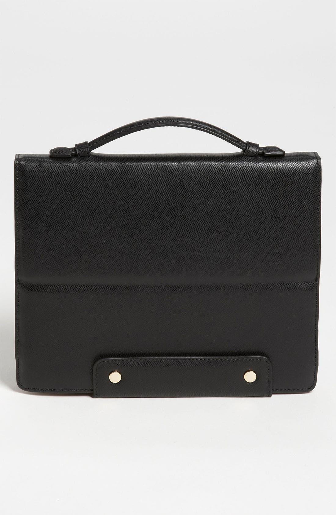 'Robinson' Saffiano Leather Tablet Case,                             Alternate thumbnail 2, color,                             001