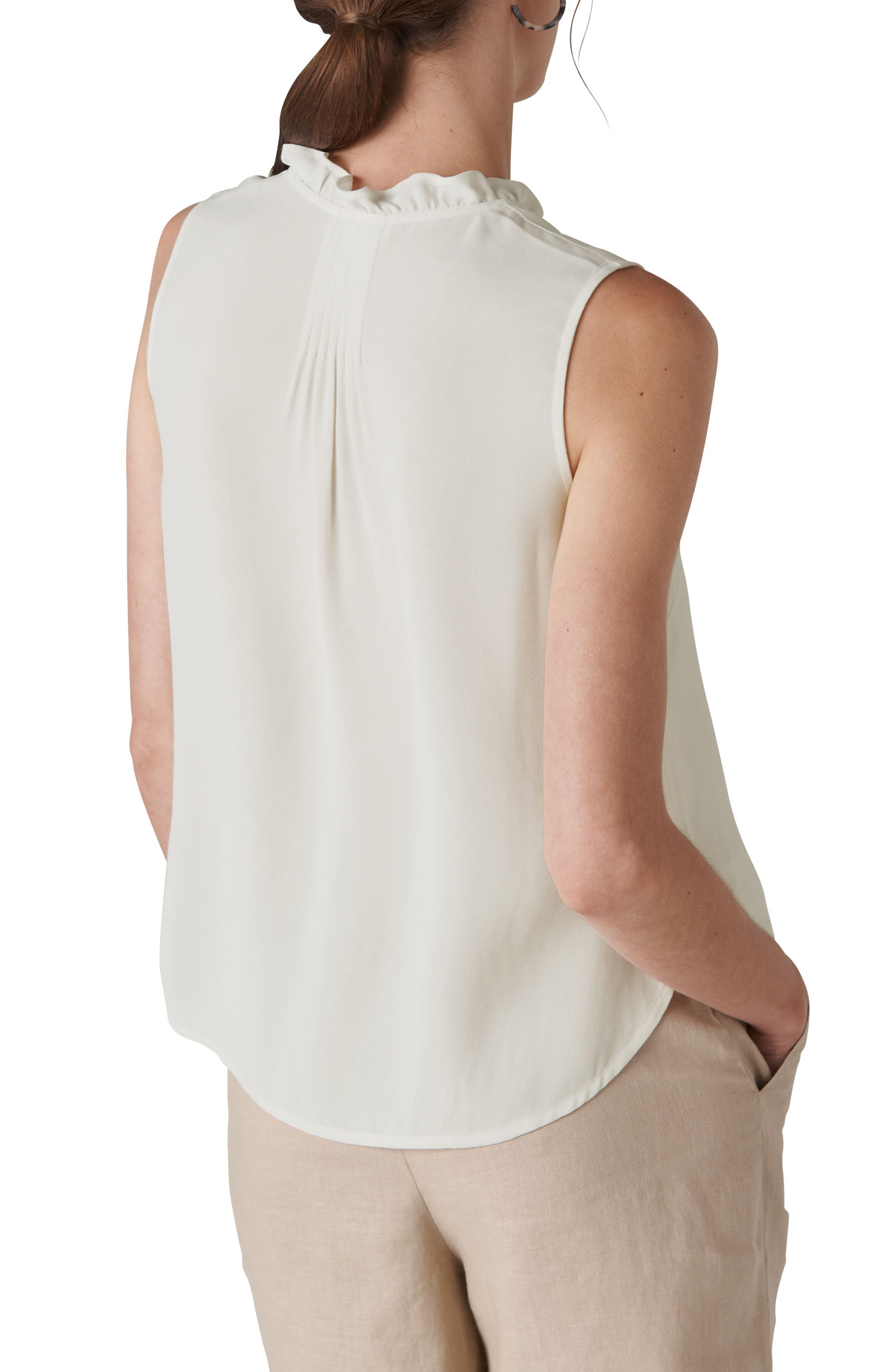 Maddie Frill Top,                             Alternate thumbnail 2, color,                             IVORY