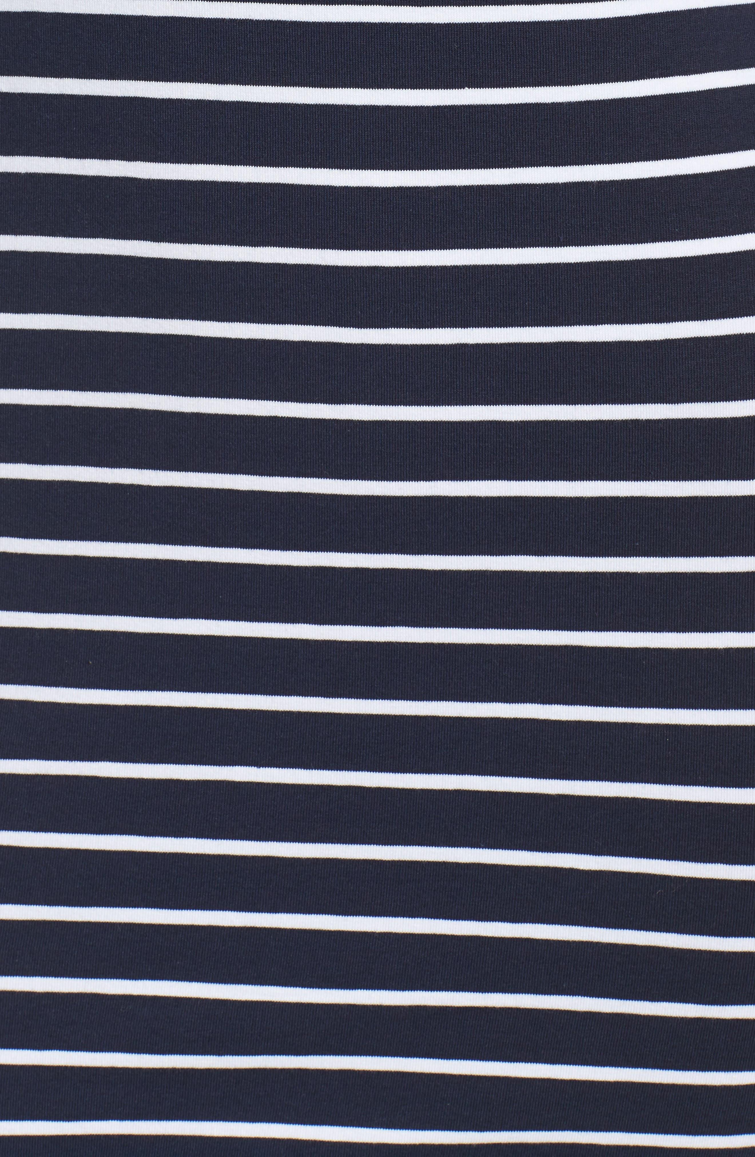 Stripe T-Shirt Dress,                             Alternate thumbnail 5, color,                             490