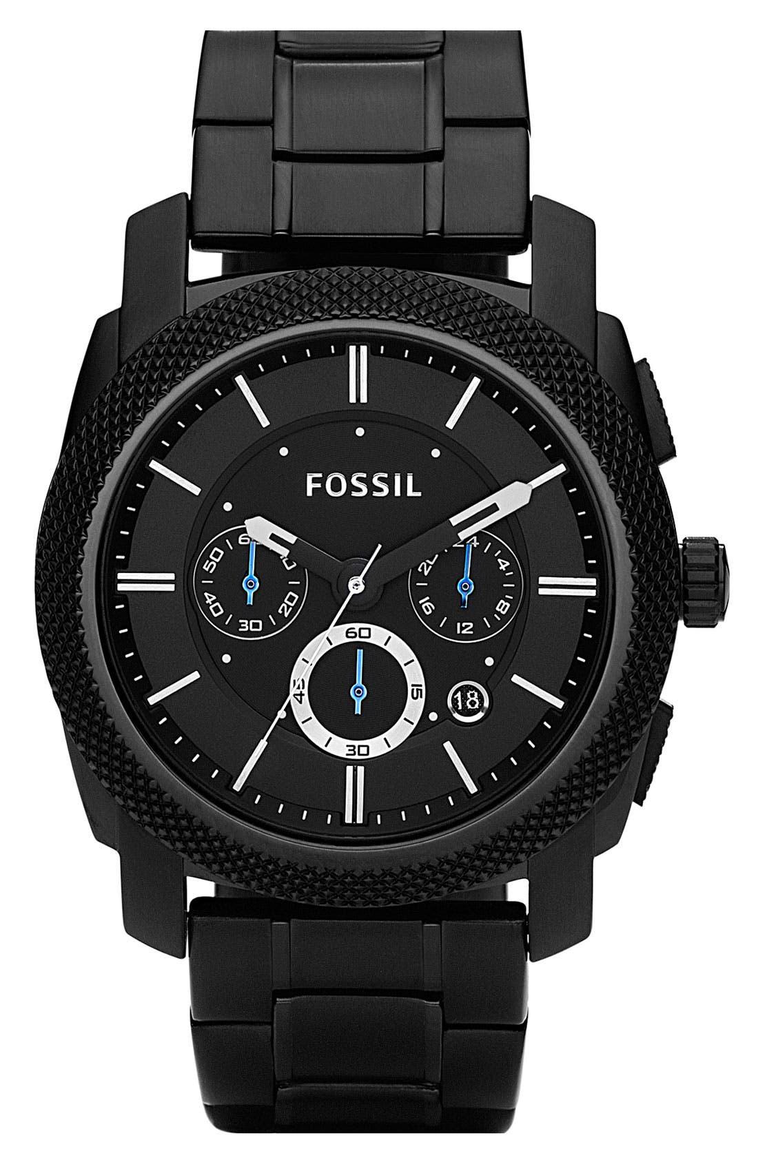 'Machine' Chronograph Bracelet Watch, 45mm,                         Main,                         color, 001