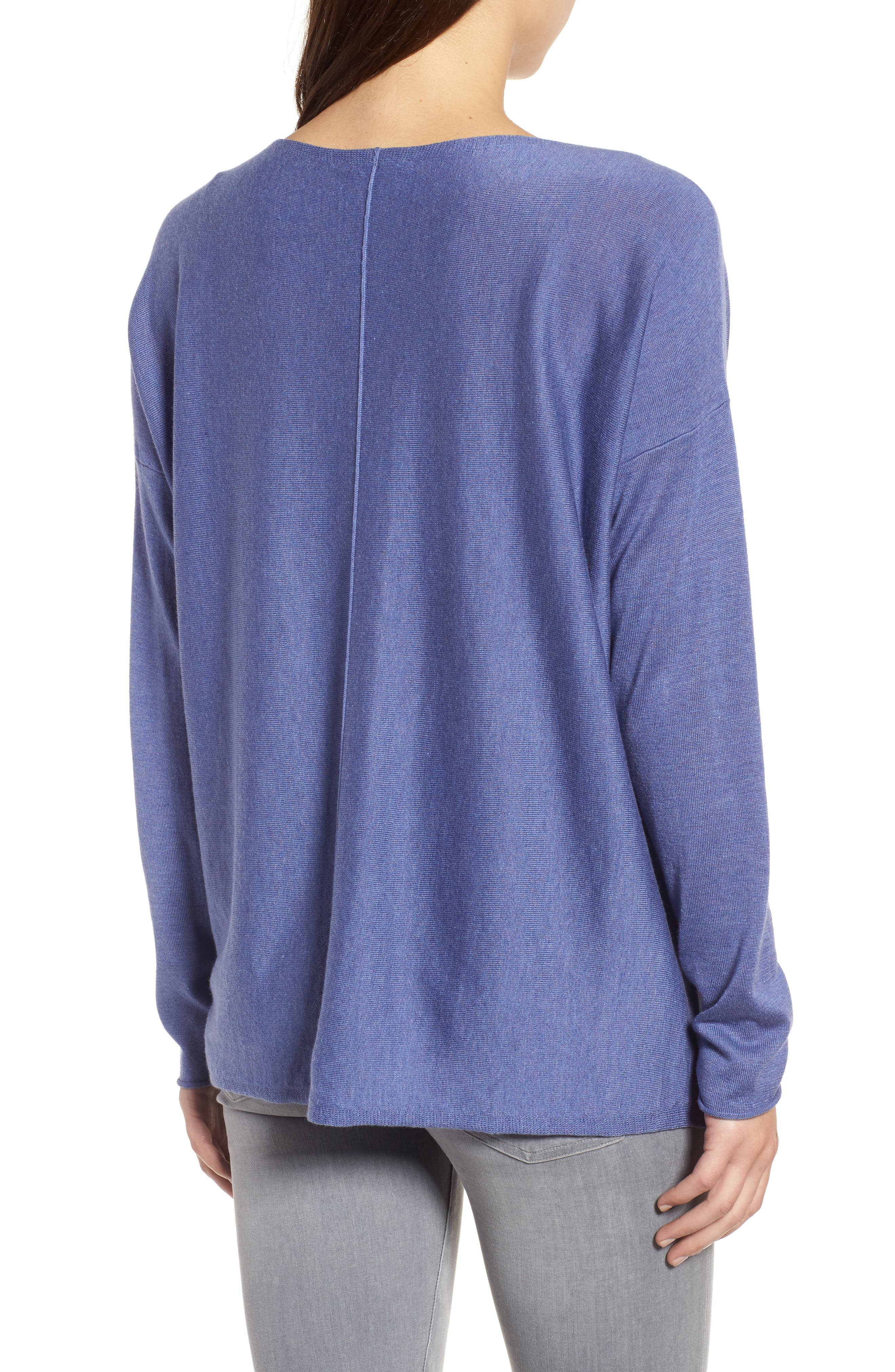 Tencel<sup>®</sup> Lyocell Blend High/Low Sweater,                             Alternate thumbnail 9, color,