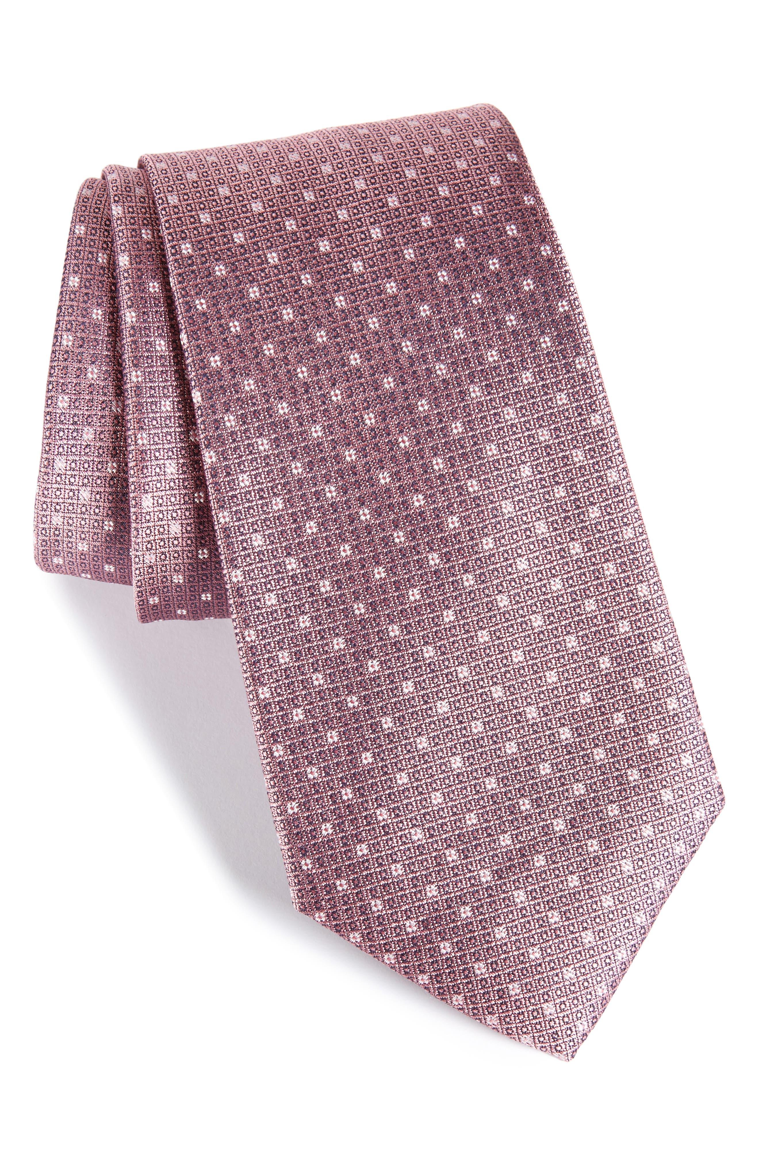 Denson Neat Silk Tie,                             Main thumbnail 7, color,