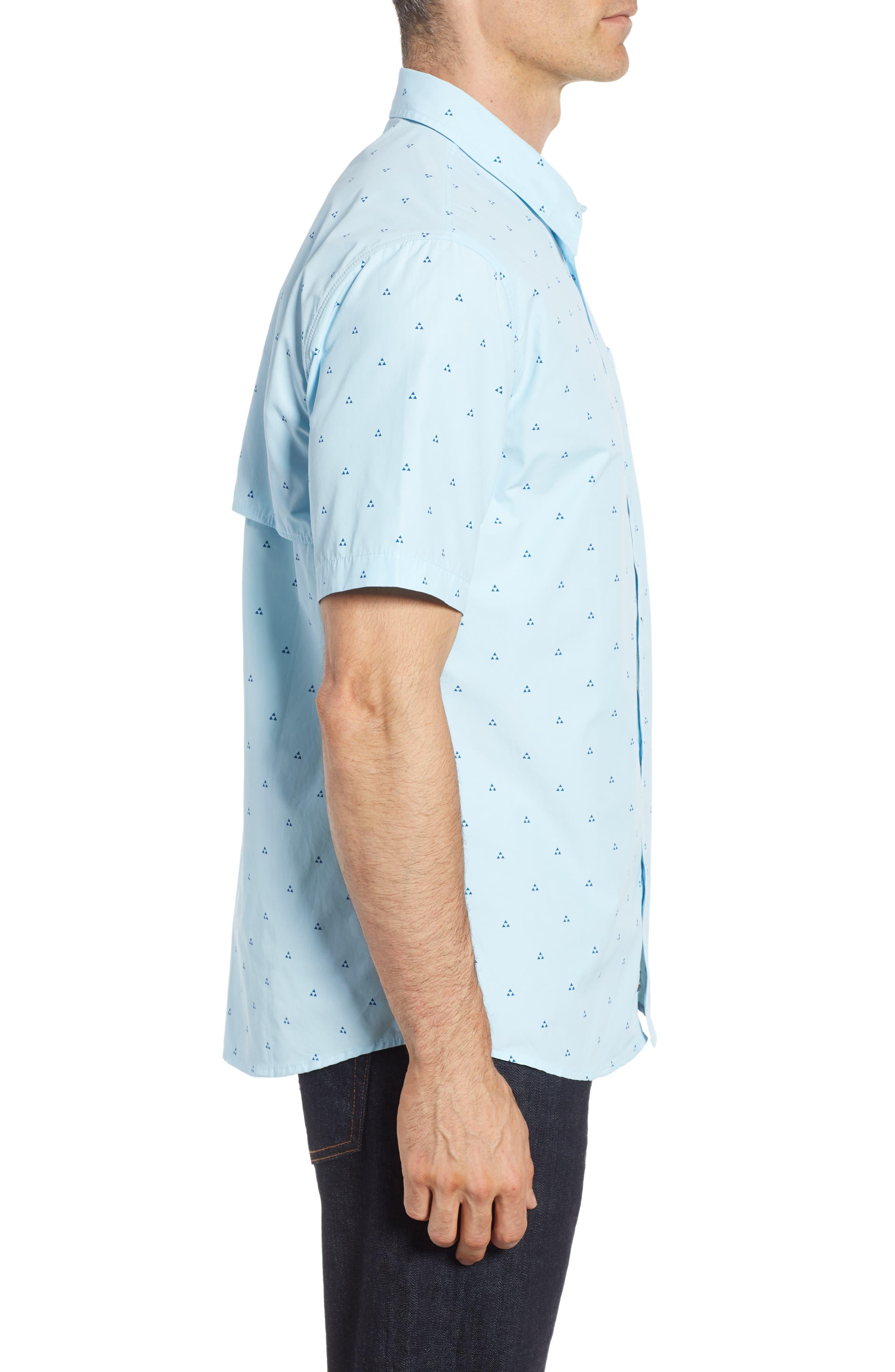 Trailblazed Regular Fit Performance Sport Shirt,                             Alternate thumbnail 3, color,                             CRYSTAL BLUE