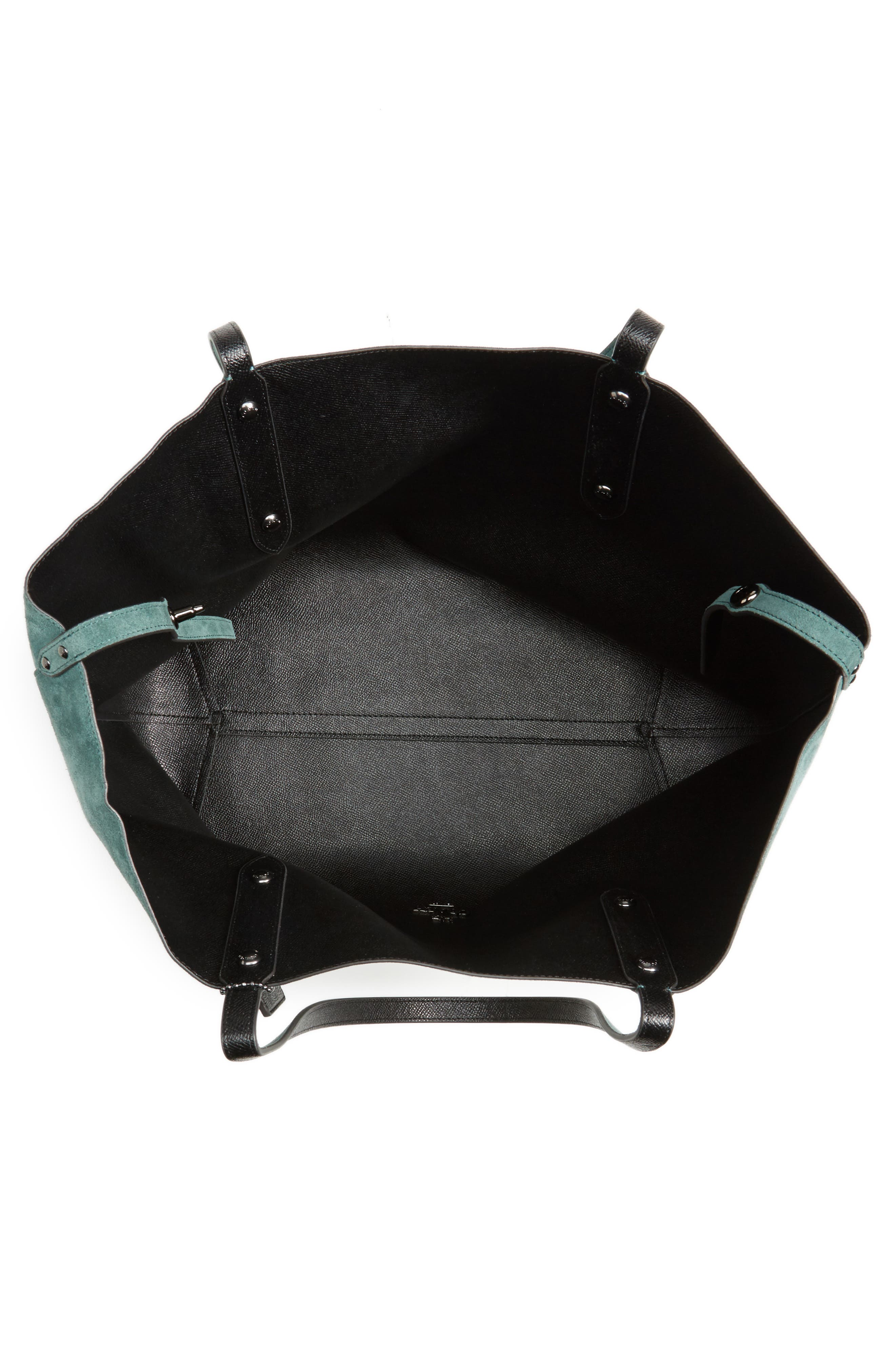 Large Market Reversible Leather Tote,                             Alternate thumbnail 22, color,