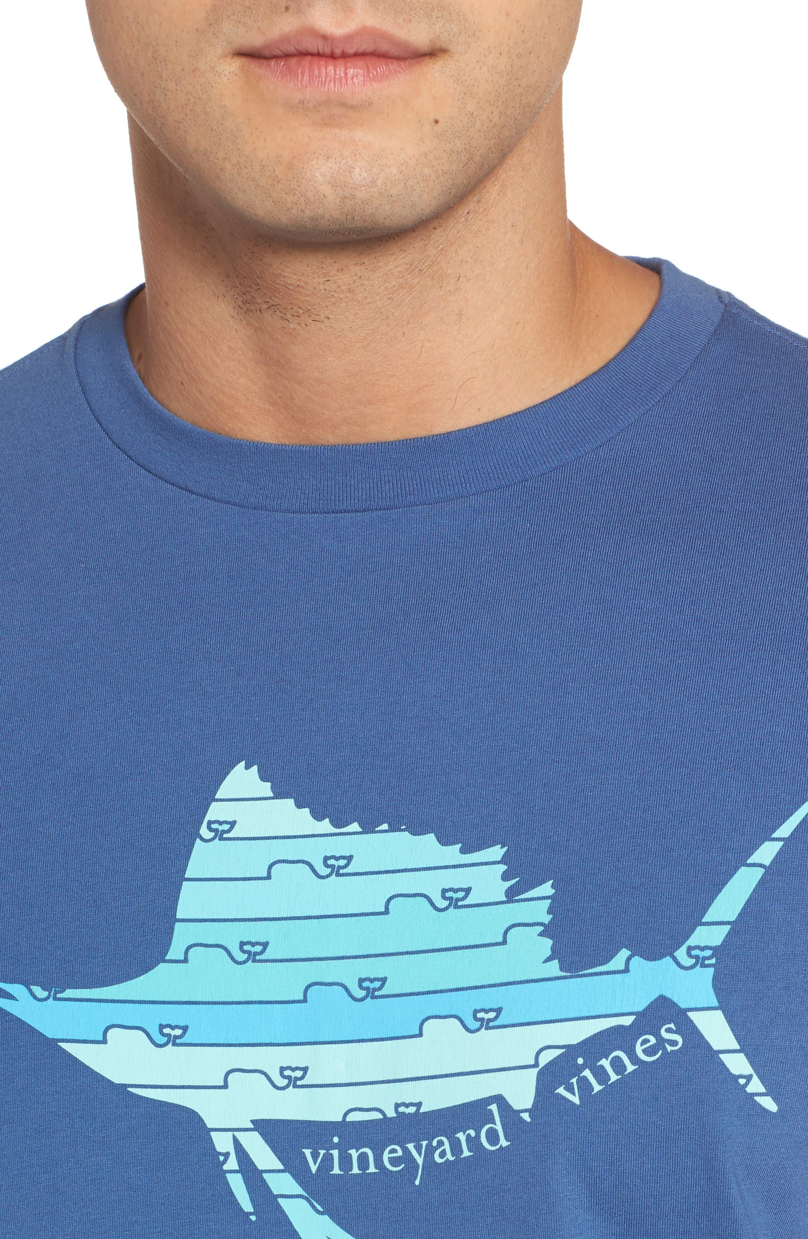 Sailfish Whale Line Graphic T-Shirt,                             Alternate thumbnail 4, color,                             461