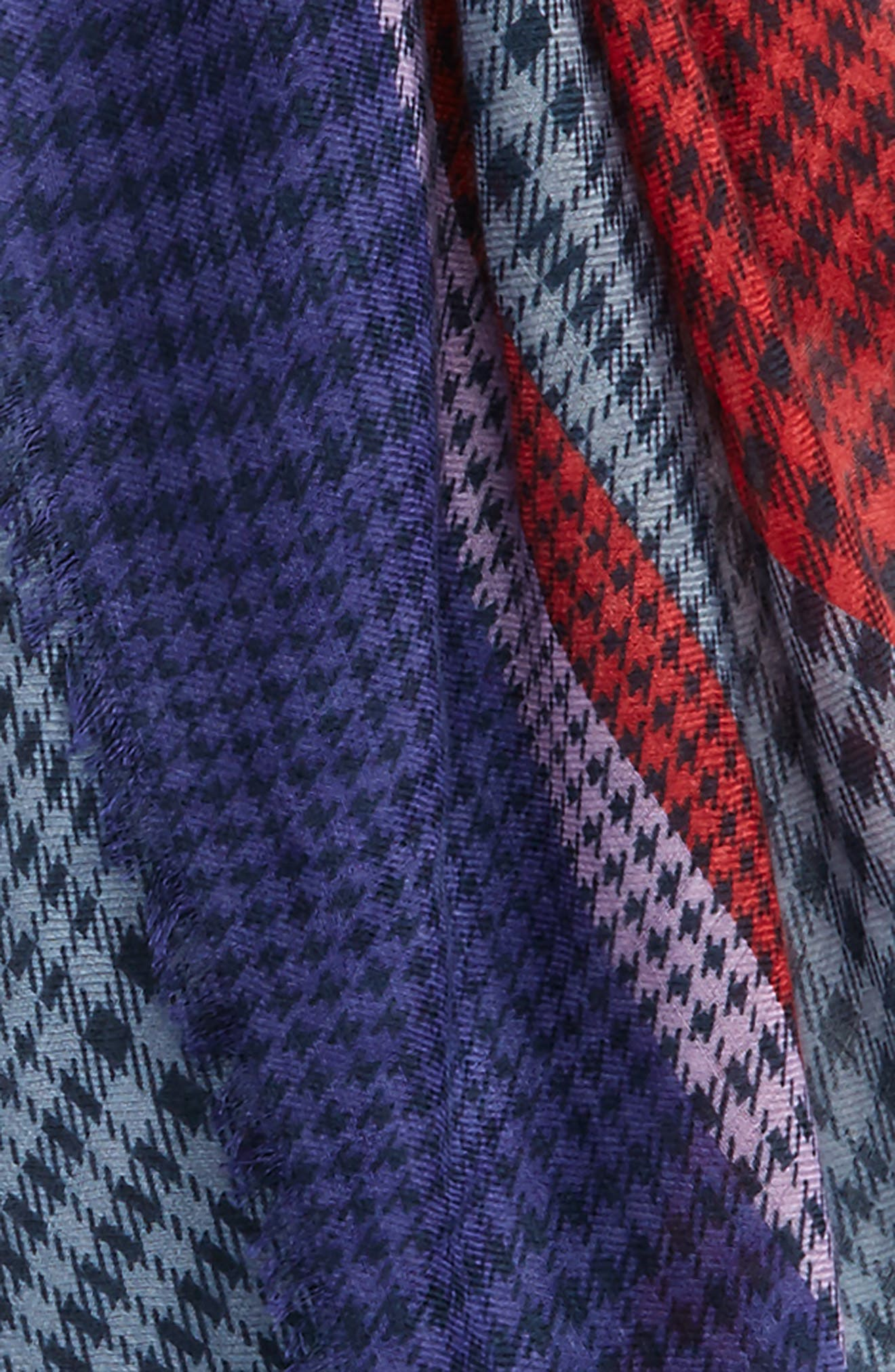 Colorblock Houndstooth Scarf,                             Alternate thumbnail 3, color,                             400