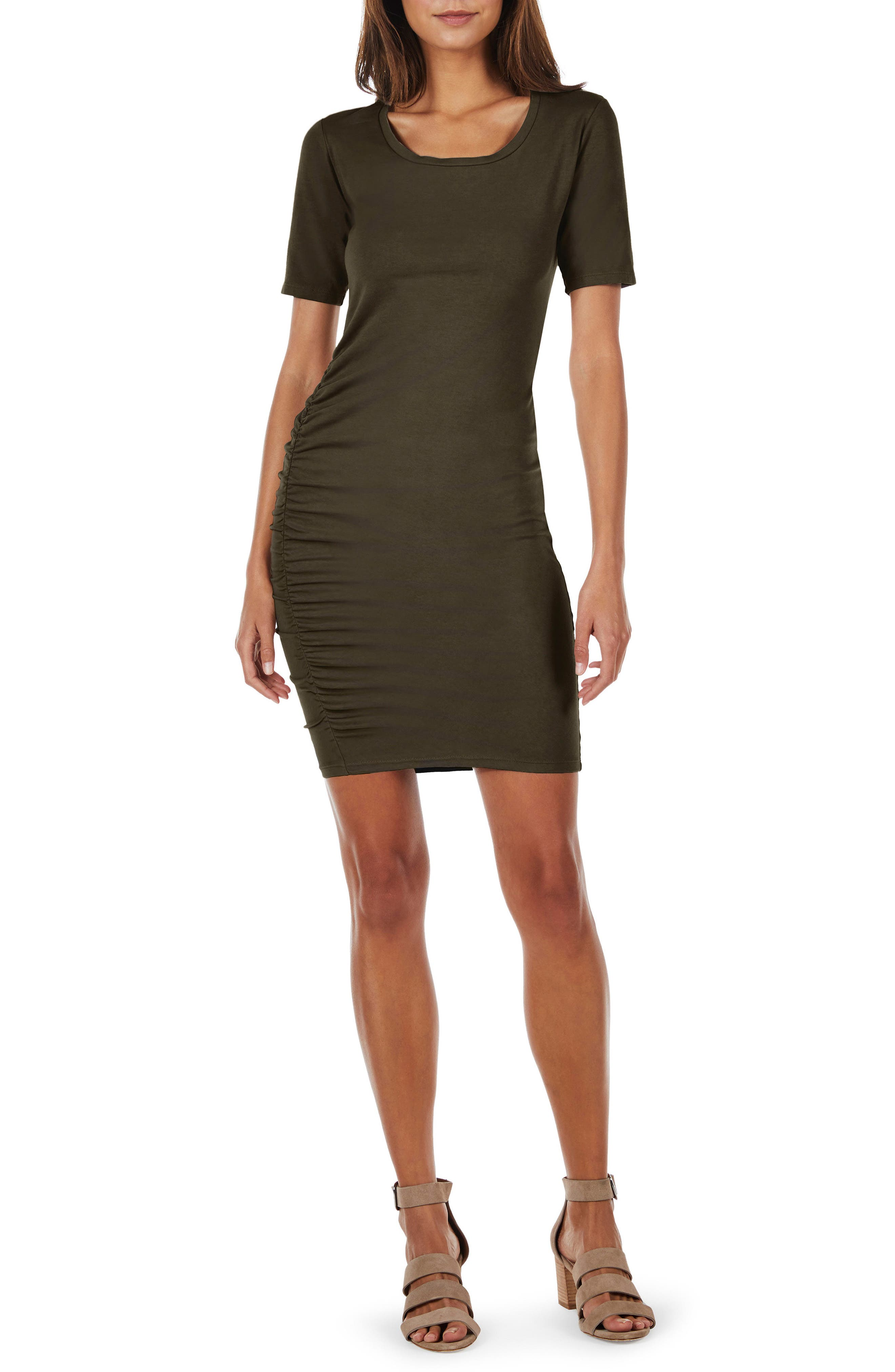 Ruched Body-Con Dress,                             Main thumbnail 3, color,