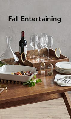 Serveware and home decor for fall entertaining.