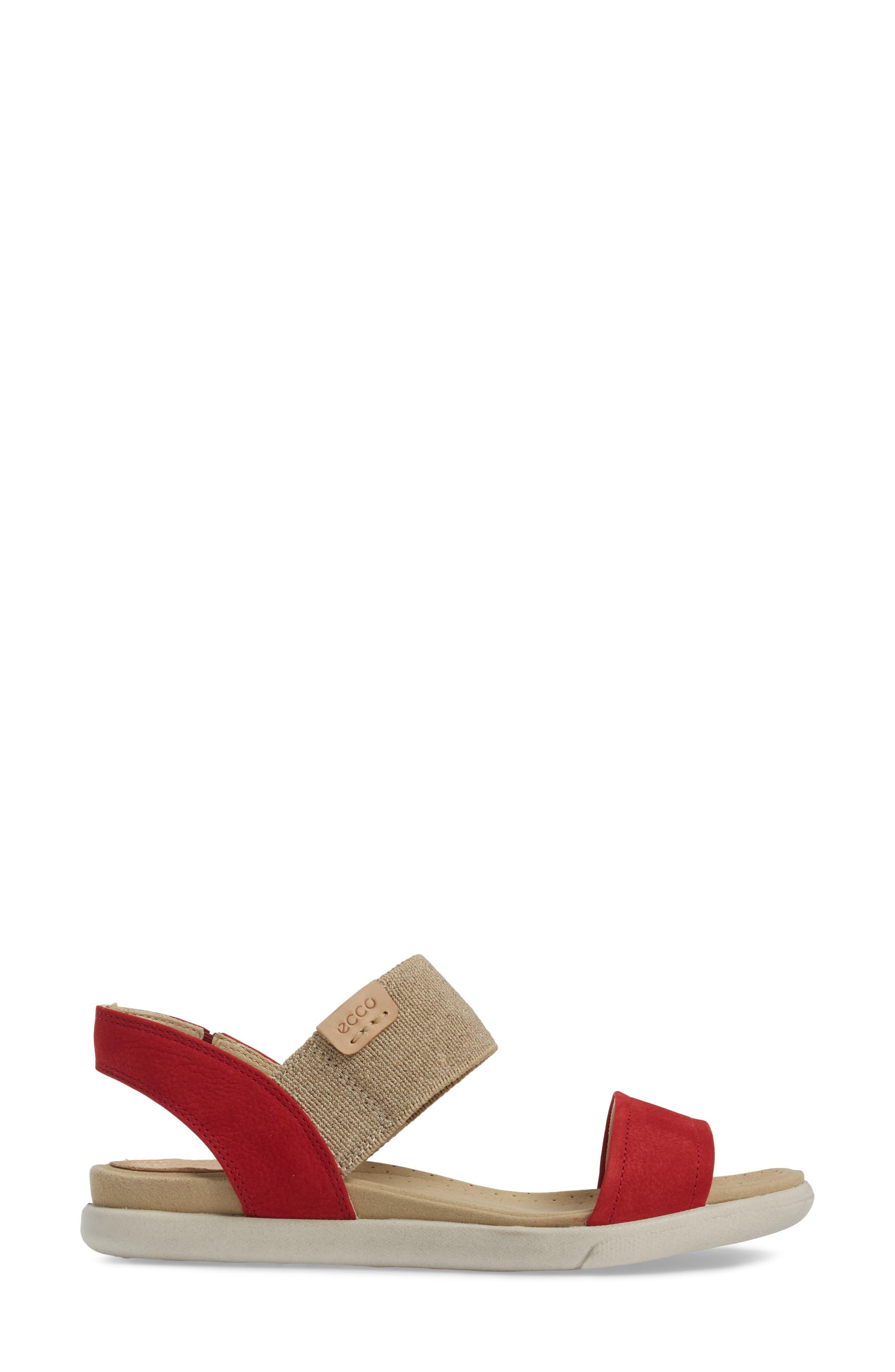 'Damara' Sandal,                             Alternate thumbnail 3, color,                             CHILI RED LEATHER