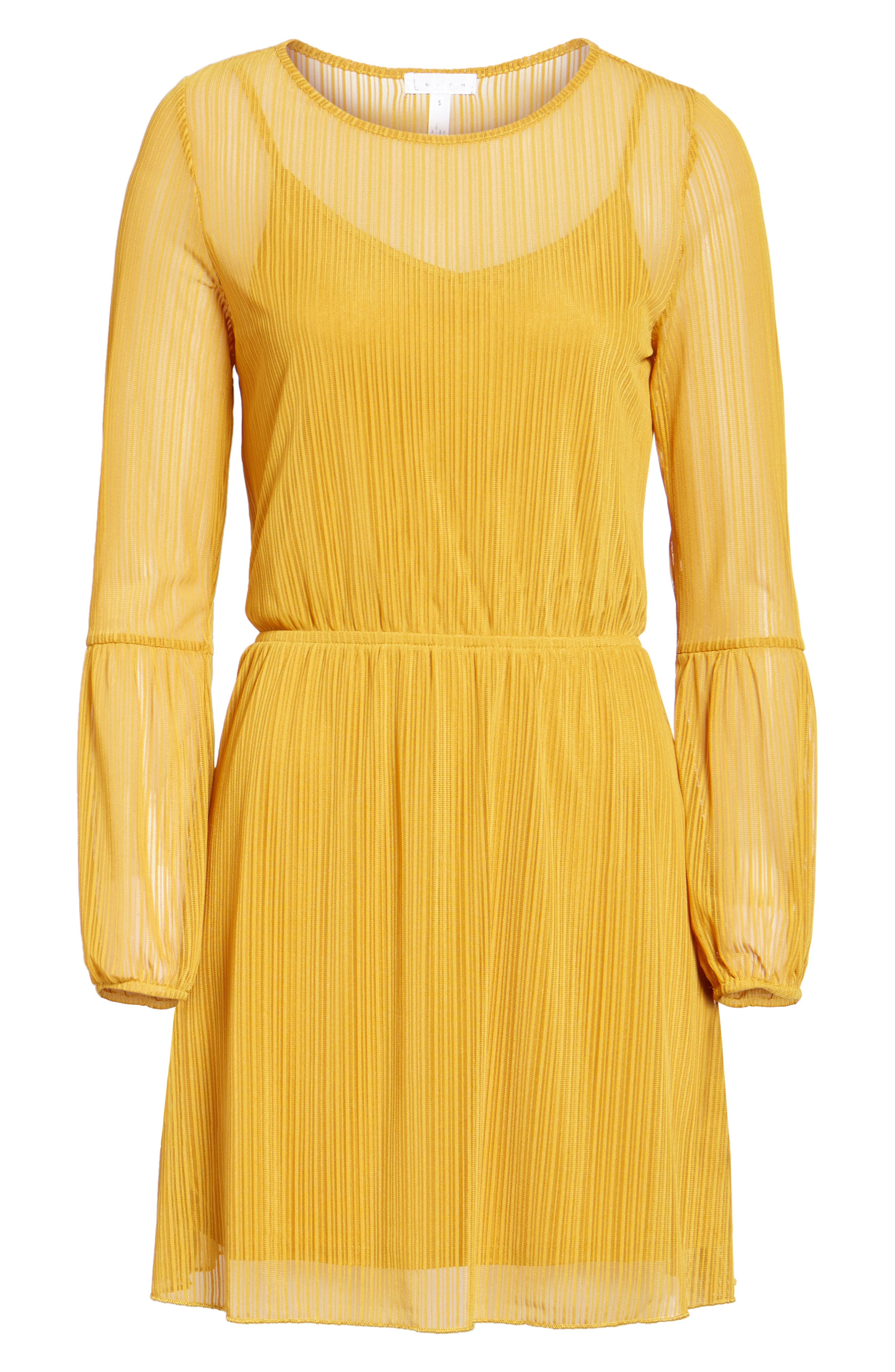 Blouson Dress,                             Alternate thumbnail 6, color,