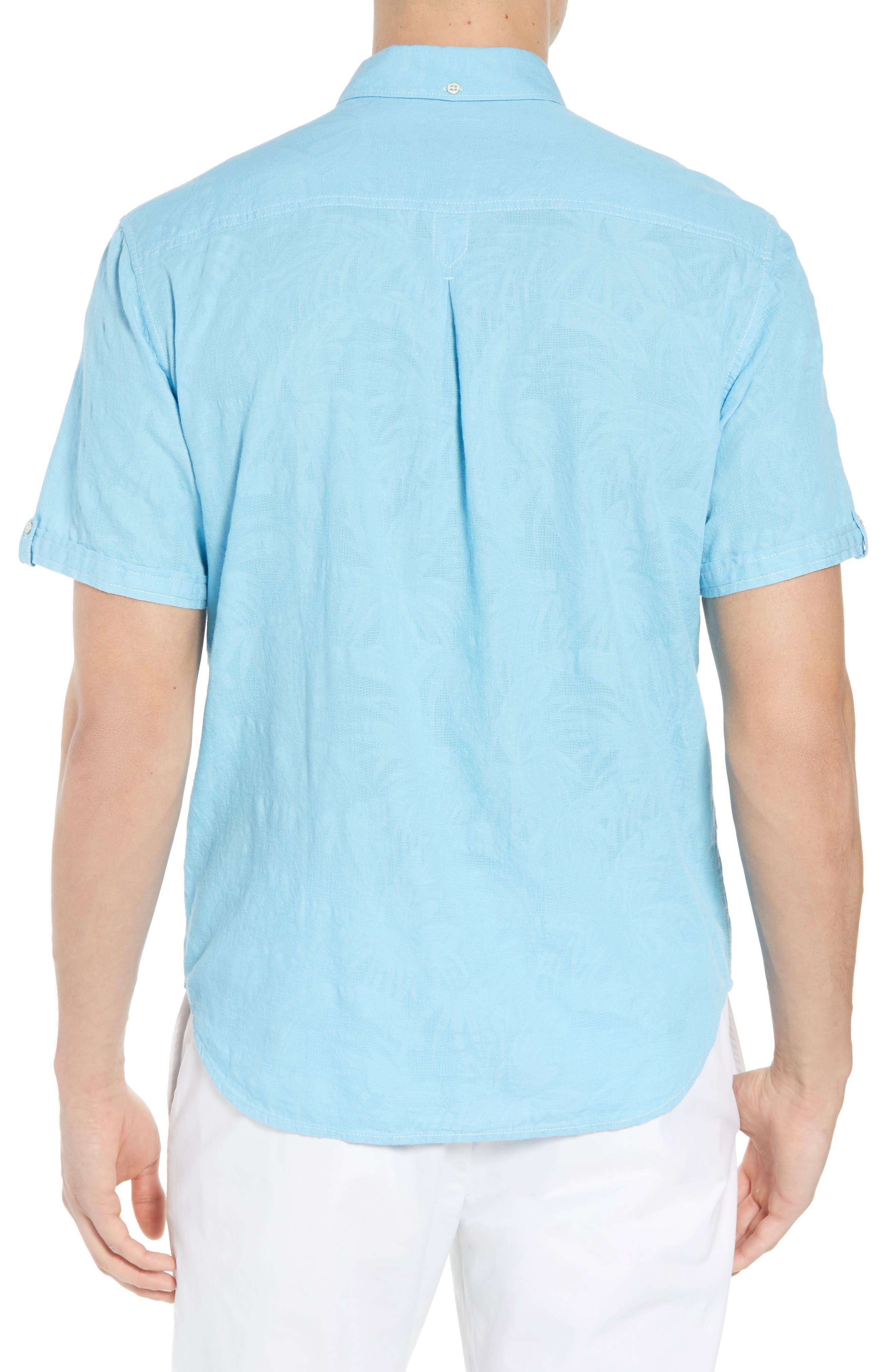 Desert Fronds Sport Shirt,                             Alternate thumbnail 8, color,