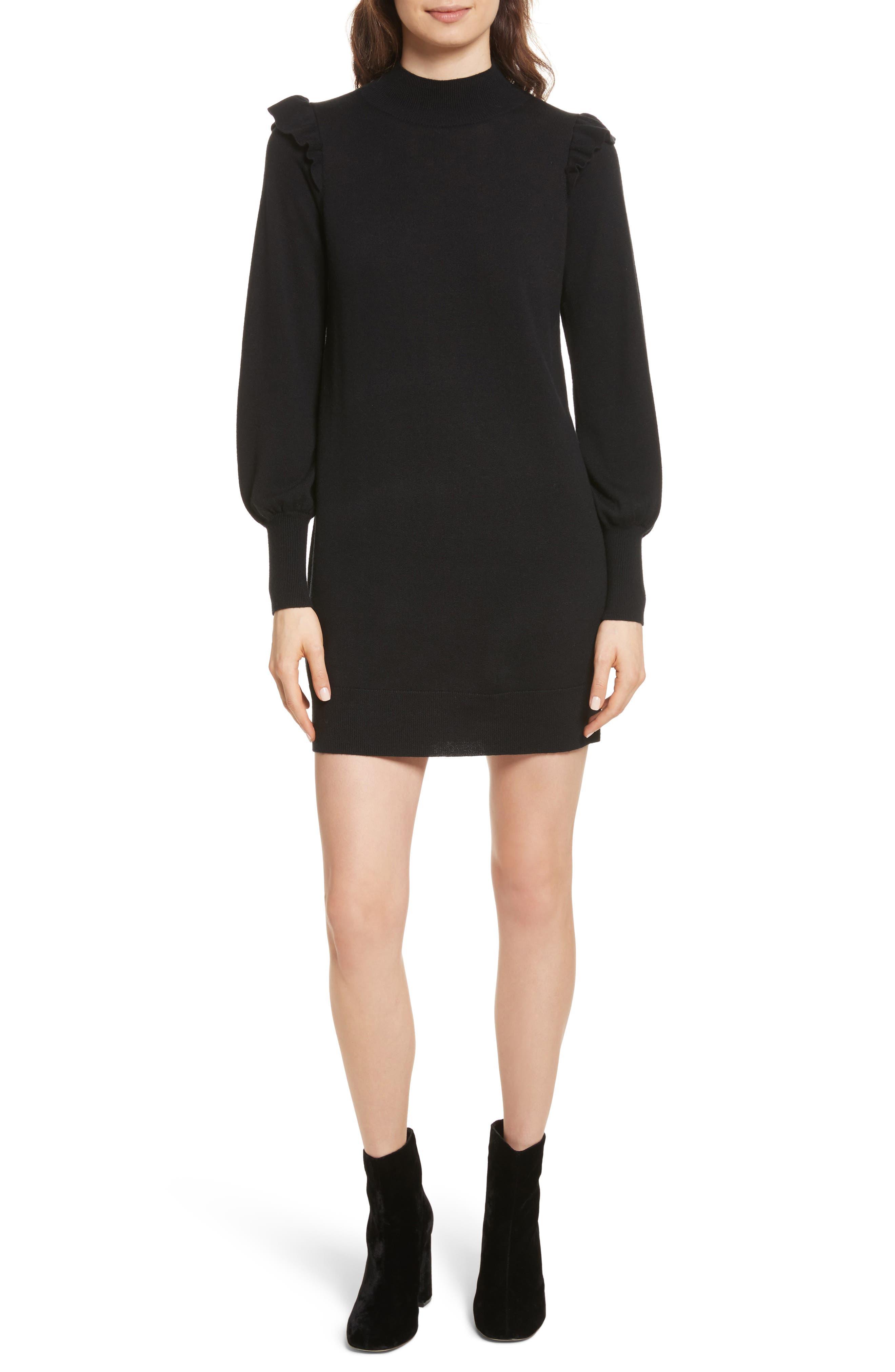 Catriona Wool & Silk Sweater Dress,                             Main thumbnail 1, color,                             002