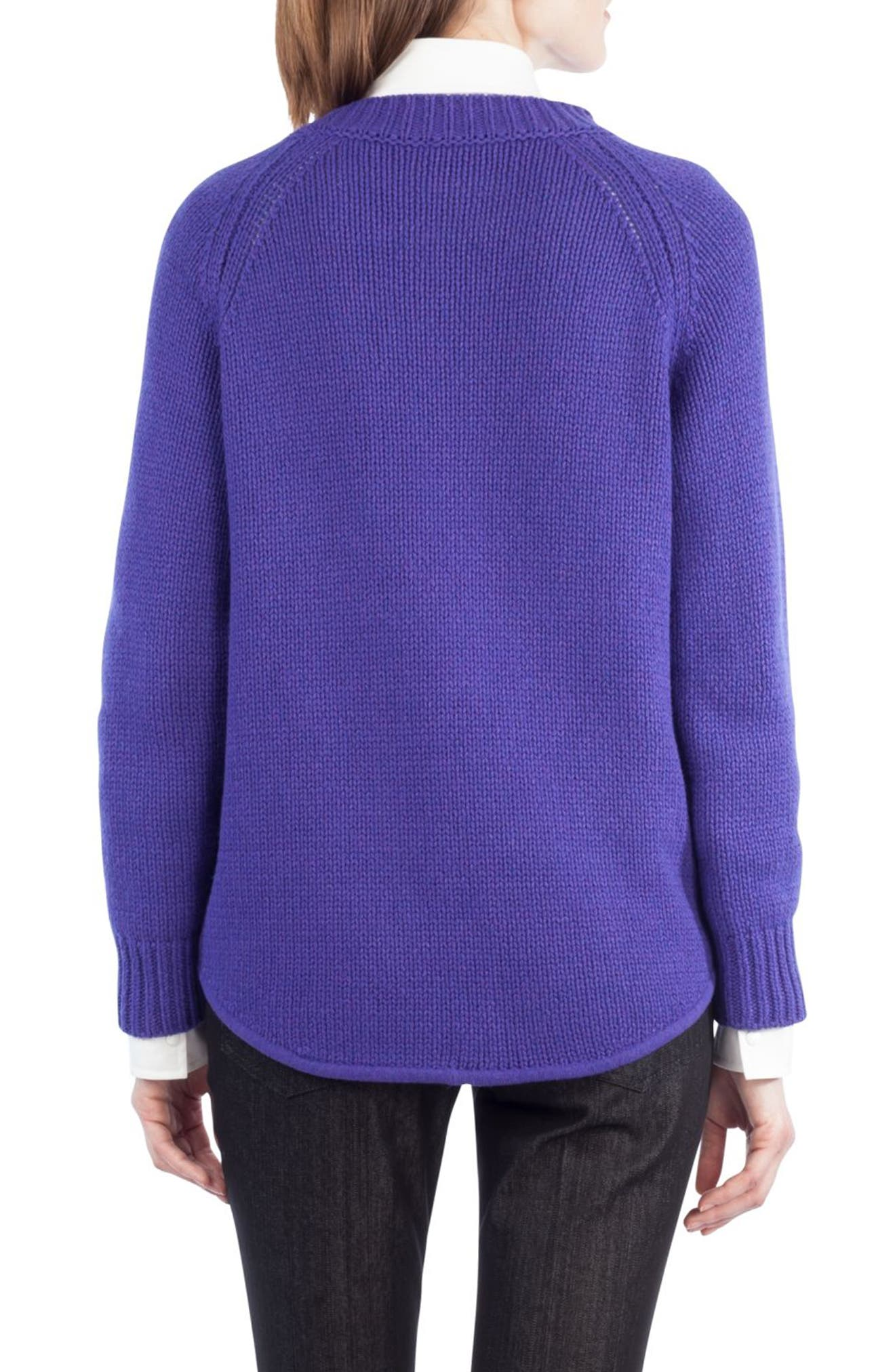 Quadrant Circle Cashmere Blend Pullover,                             Alternate thumbnail 4, color,