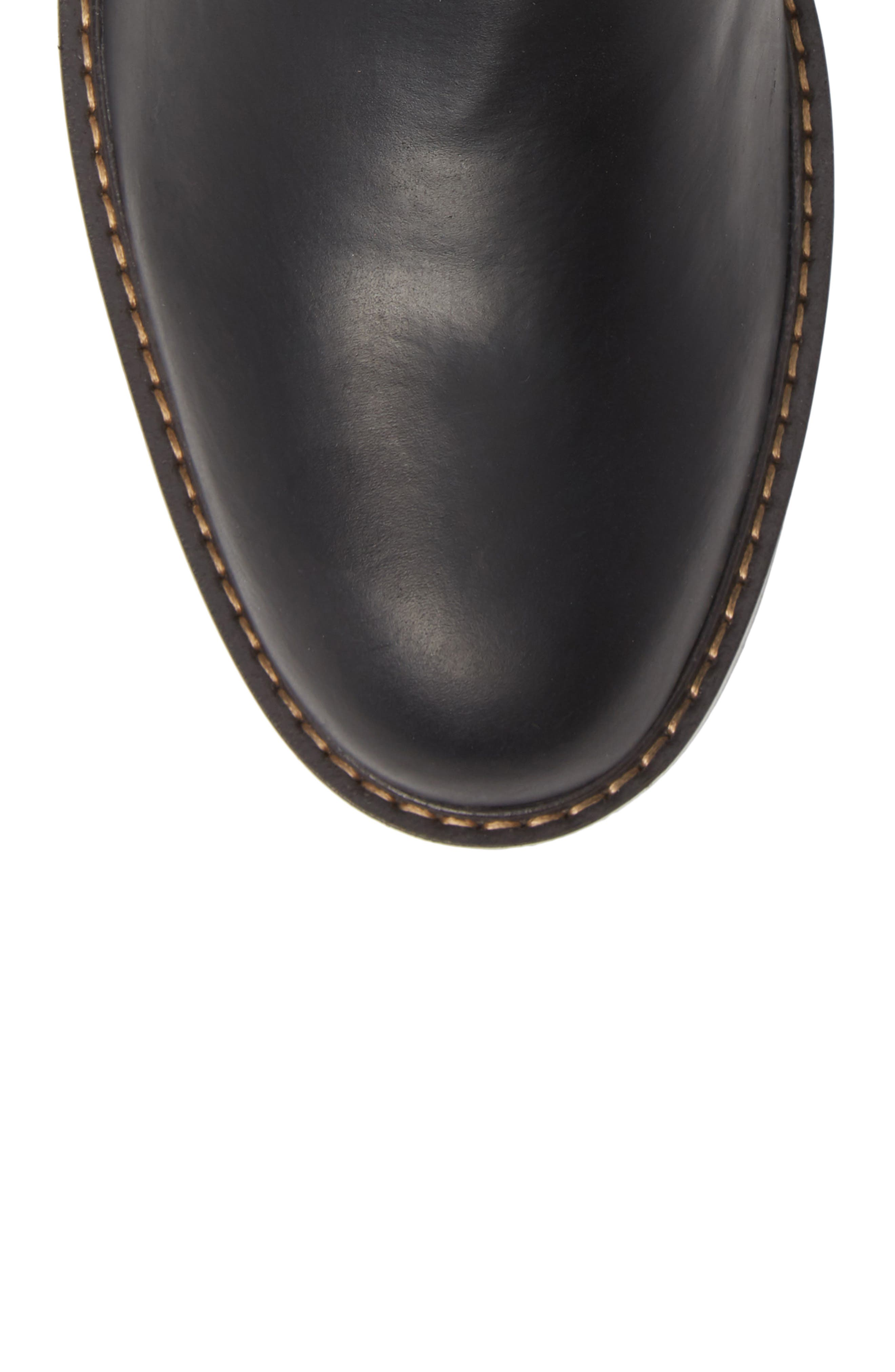 Brooks Chelsea Boot,                             Alternate thumbnail 5, color,                             BLACK LEATHER