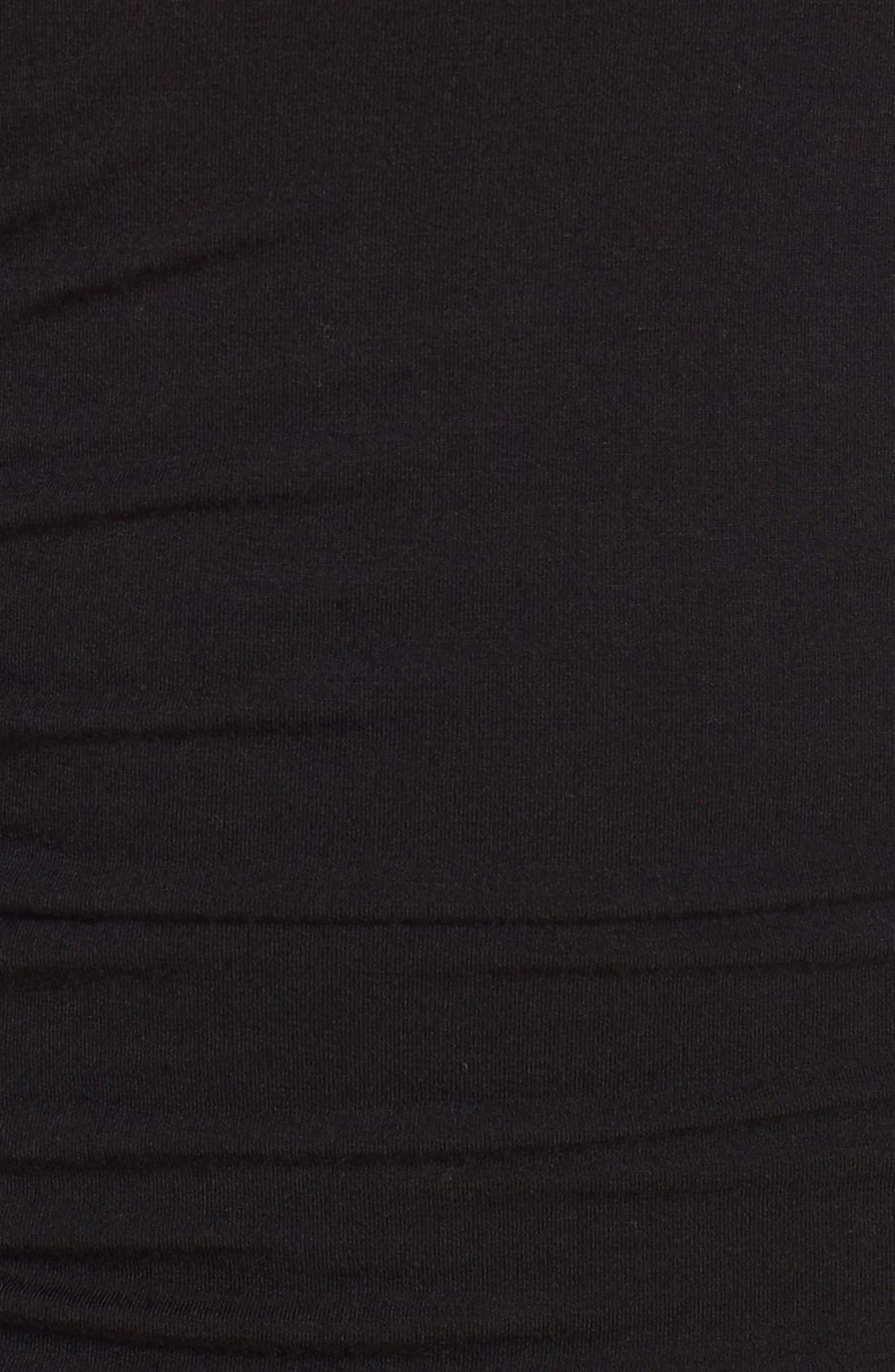 Side Ruched Turtleneck Dress,                             Alternate thumbnail 9, color,