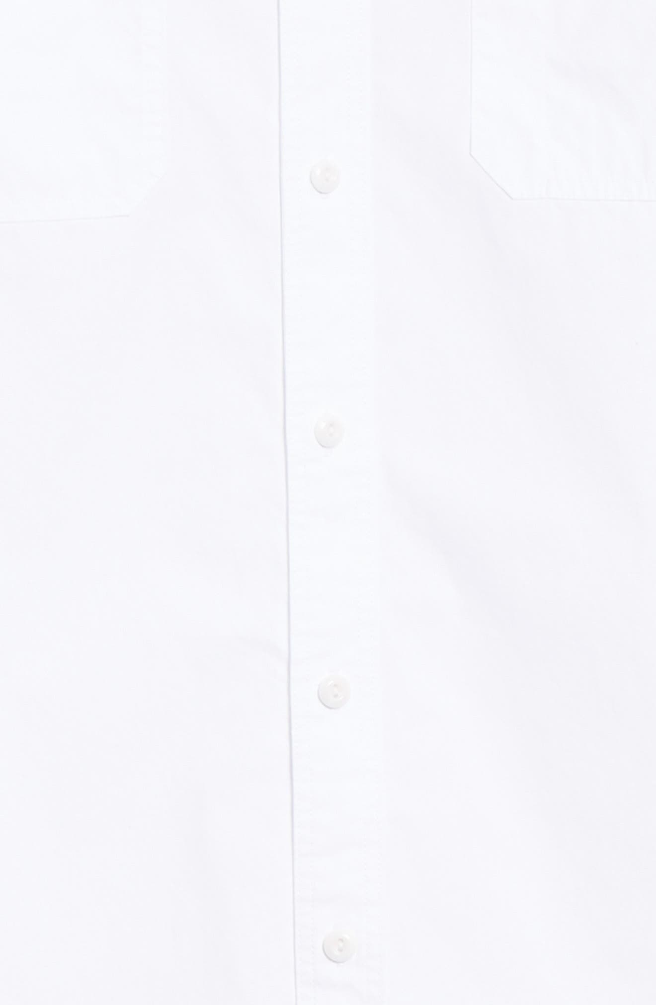 Benning Slim Fit Utility Shirt,                             Alternate thumbnail 6, color,                             TRUE WHITE