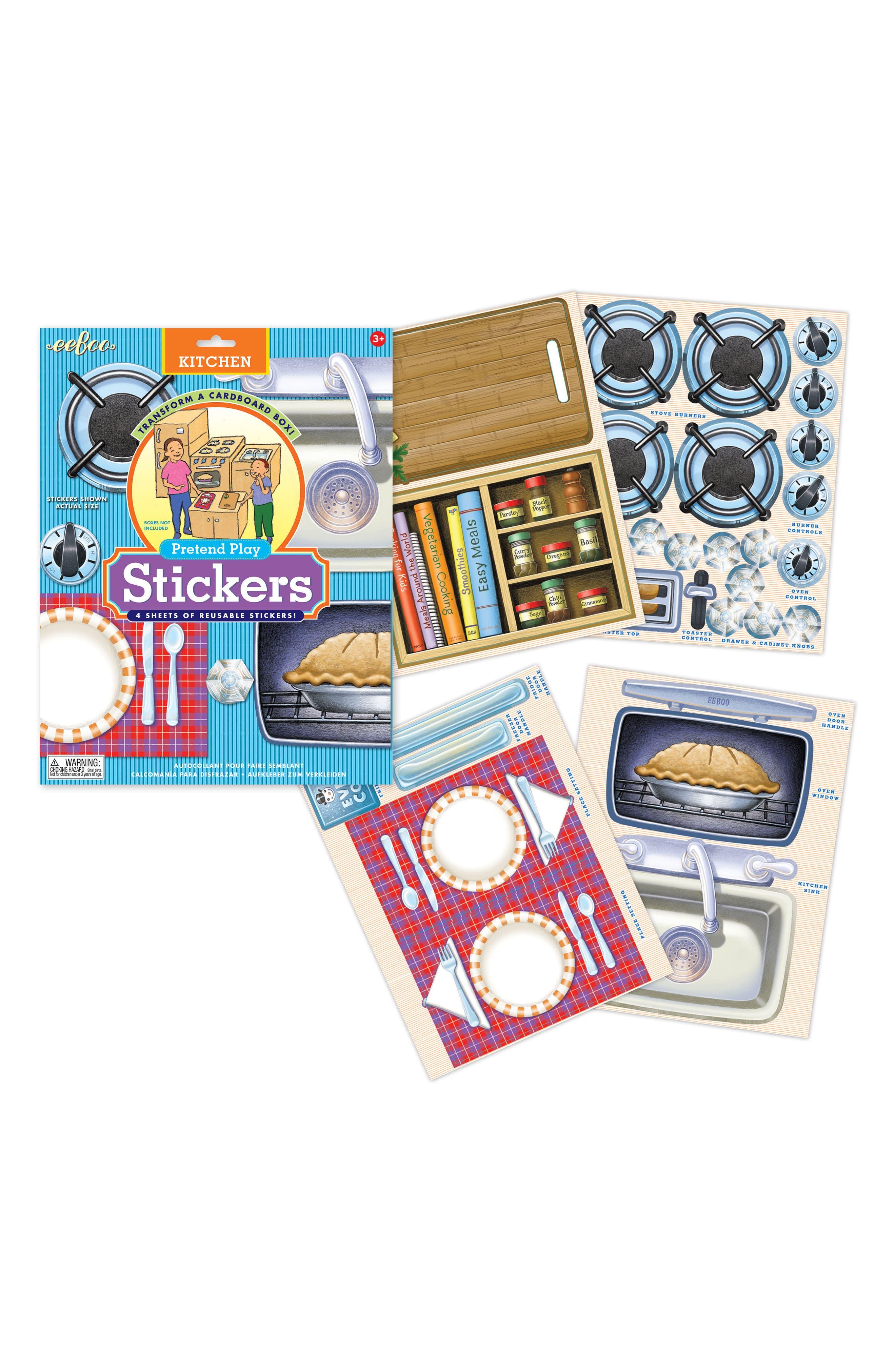 Cardboard Box Kitchen Sticker Set,                             Alternate thumbnail 2, color,                             MULTI