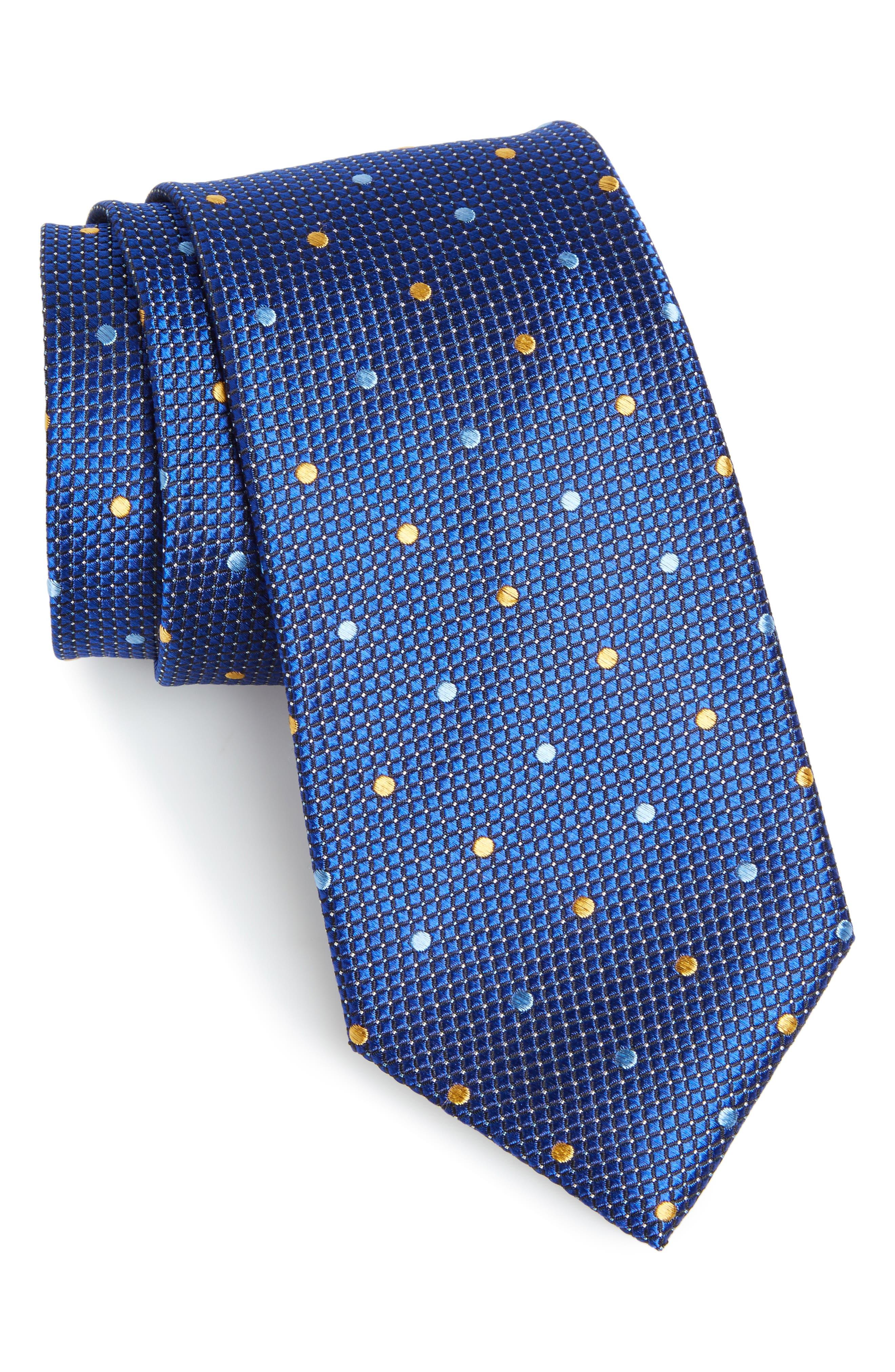 Dot Silk Tie,                             Main thumbnail 1, color,                             411