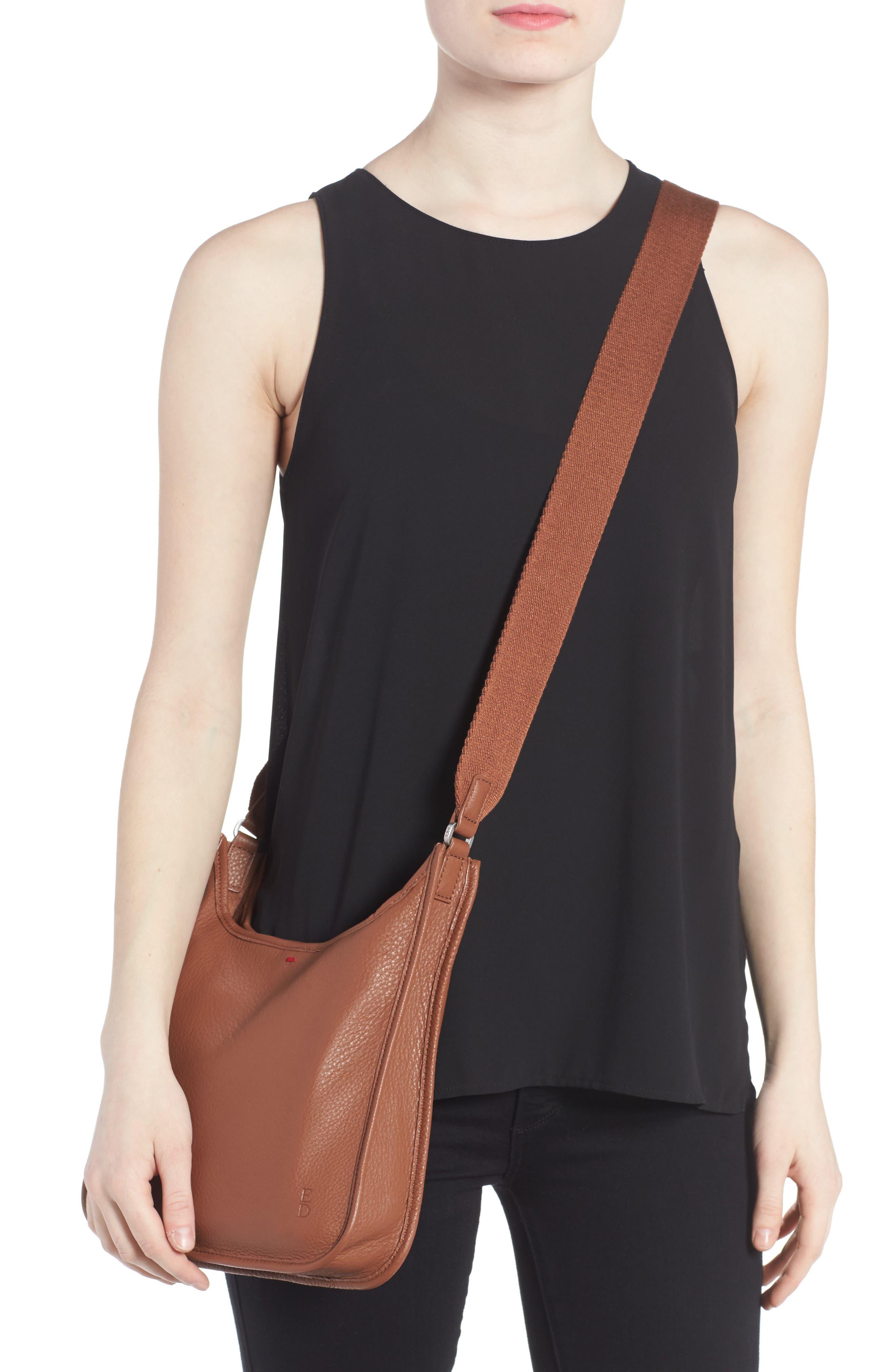 Leather Crossbody Bag,                             Alternate thumbnail 9, color,