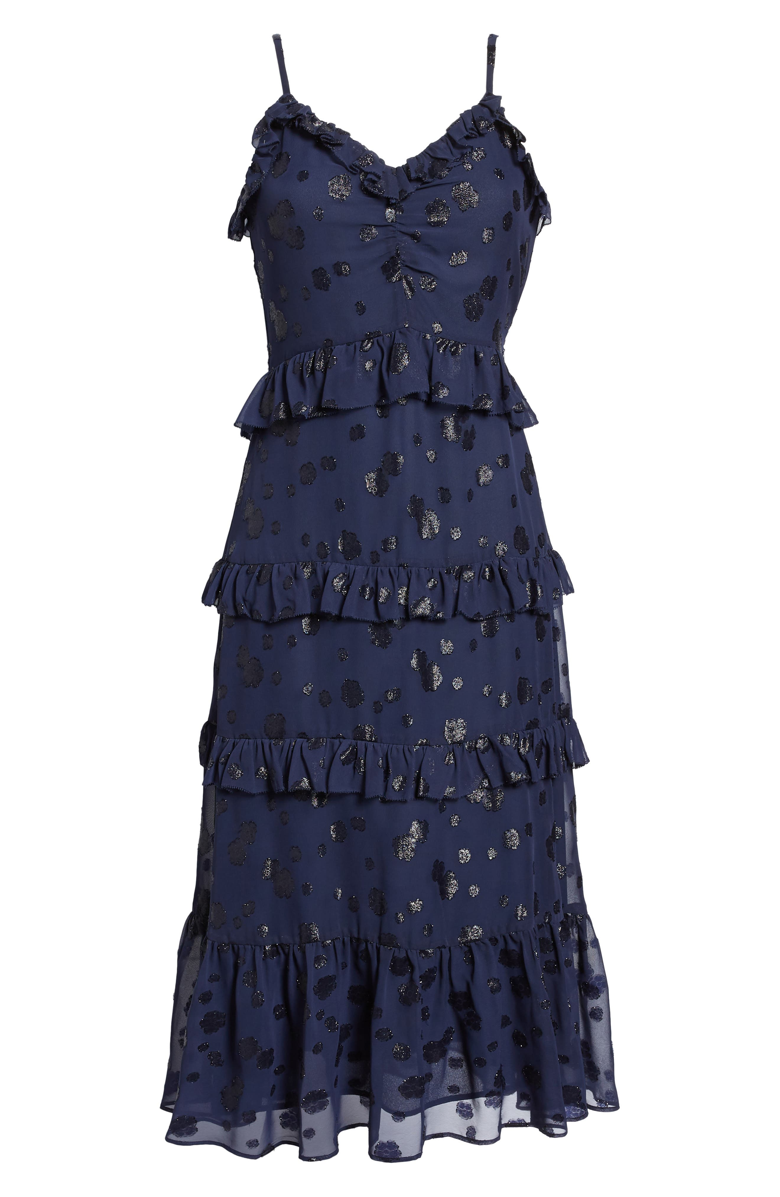 Tiered Ruffle Dress,                             Alternate thumbnail 6, color,                             456