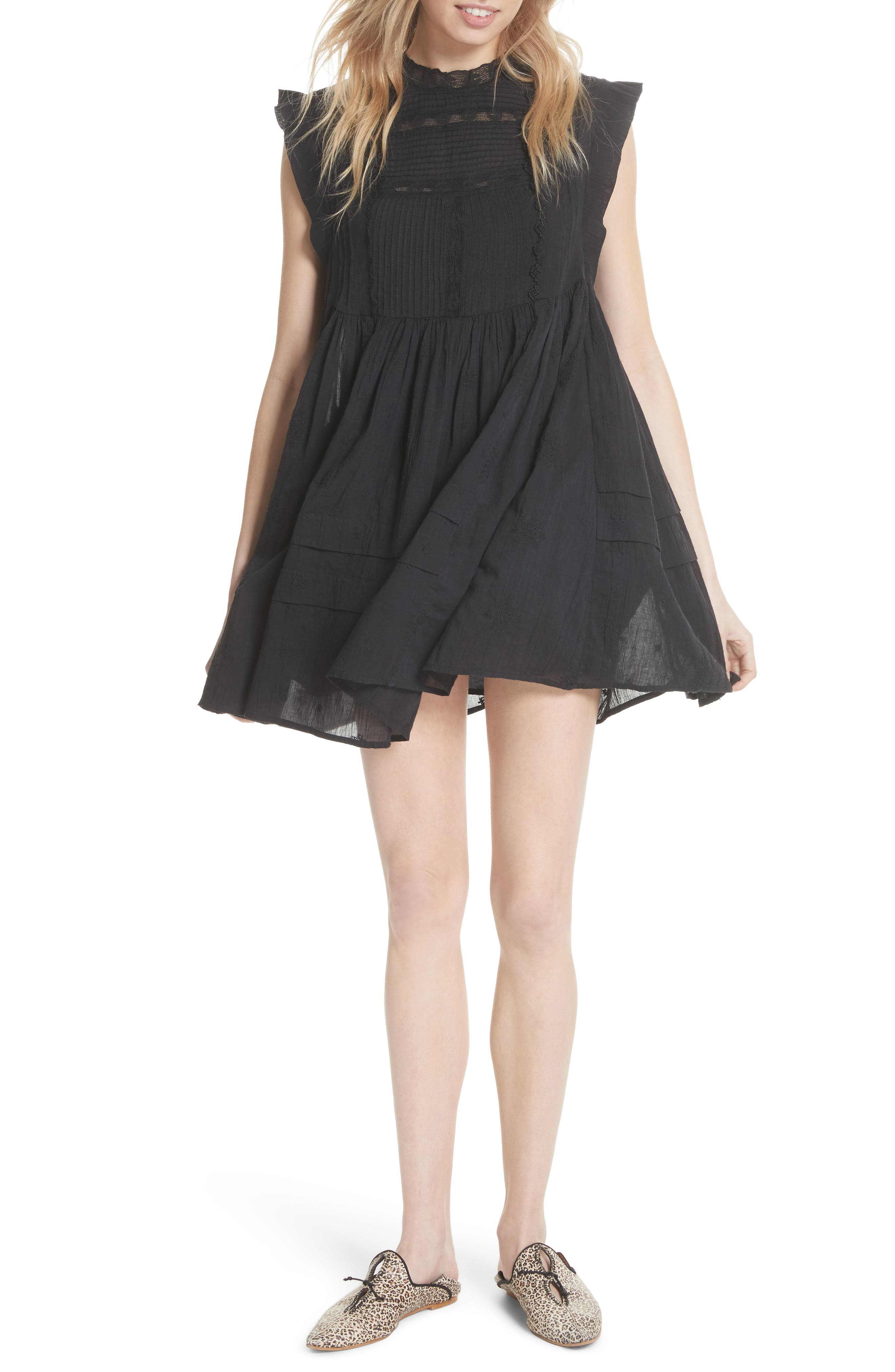 Nobody Like You Babydoll Minidress,                         Main,                         color, 001