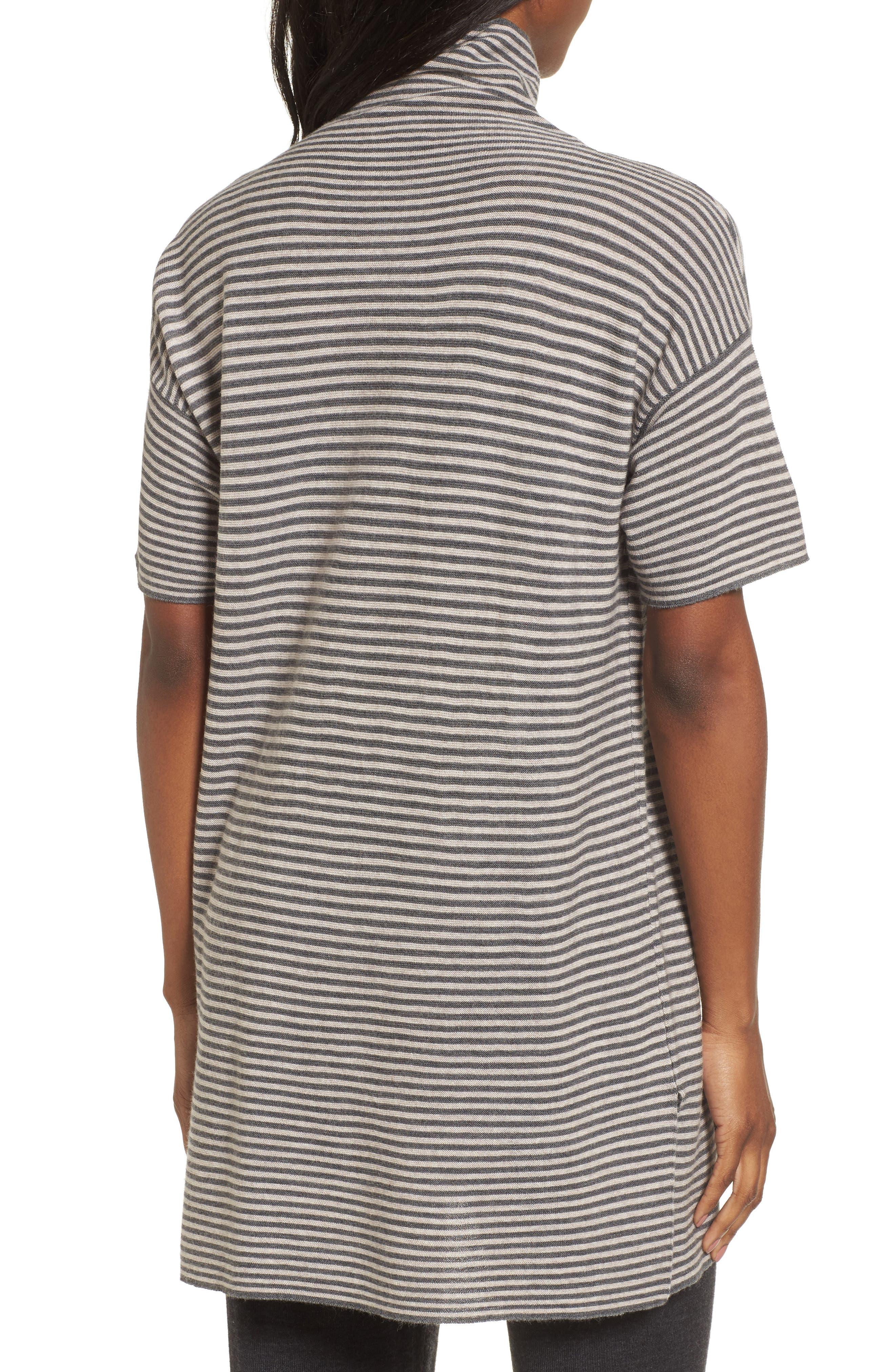 Stripe Merino Wool Tunic,                             Alternate thumbnail 4, color,