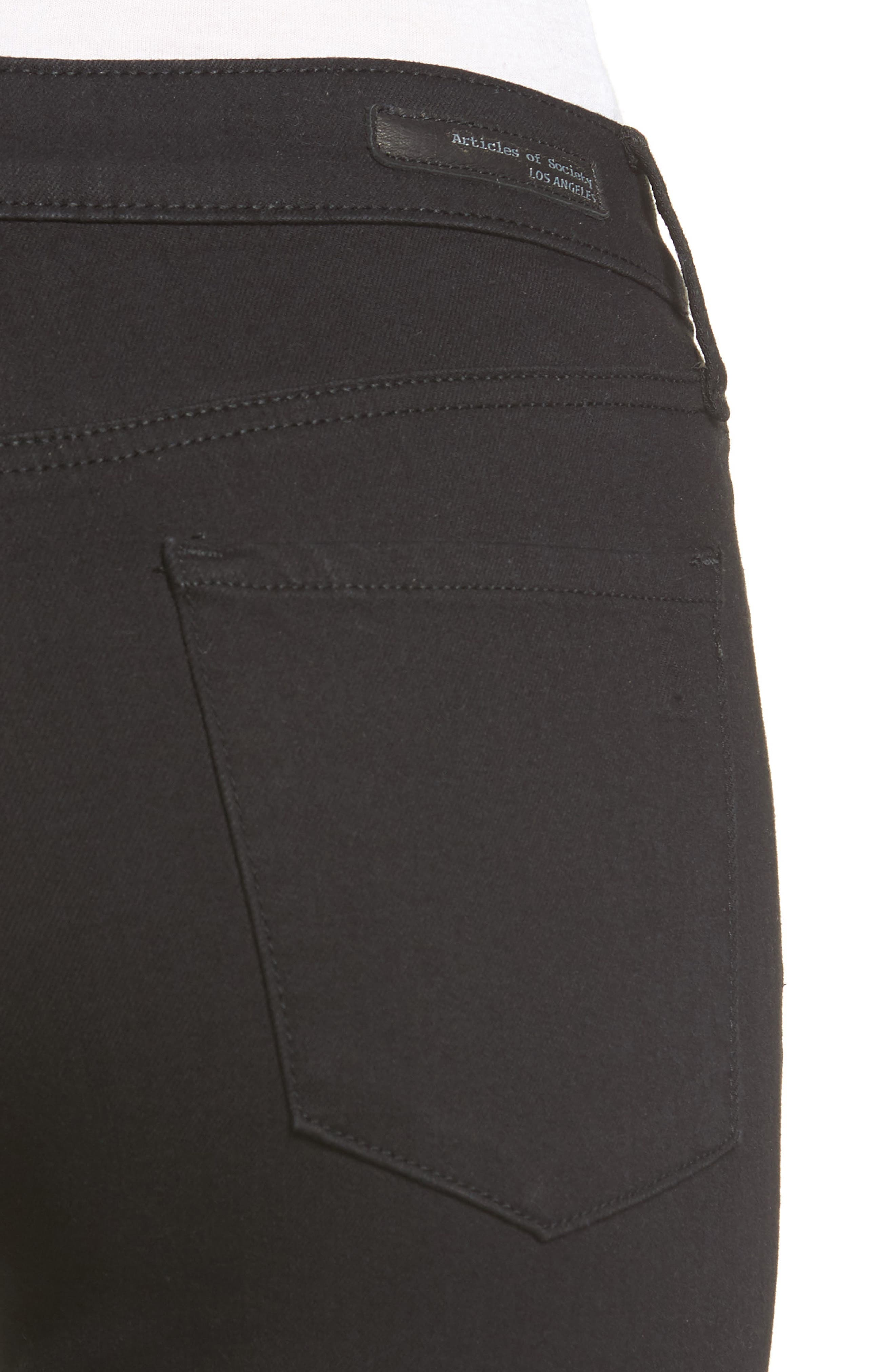 Carly Crop Skinny Jeans,                             Alternate thumbnail 4, color,                             012