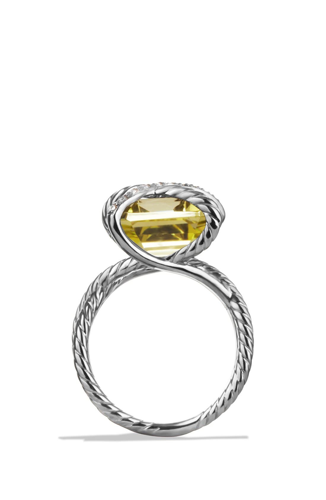 'Cable Wrap' Ring with Lemon Citrine and Diamonds,                             Alternate thumbnail 2, color,                             720