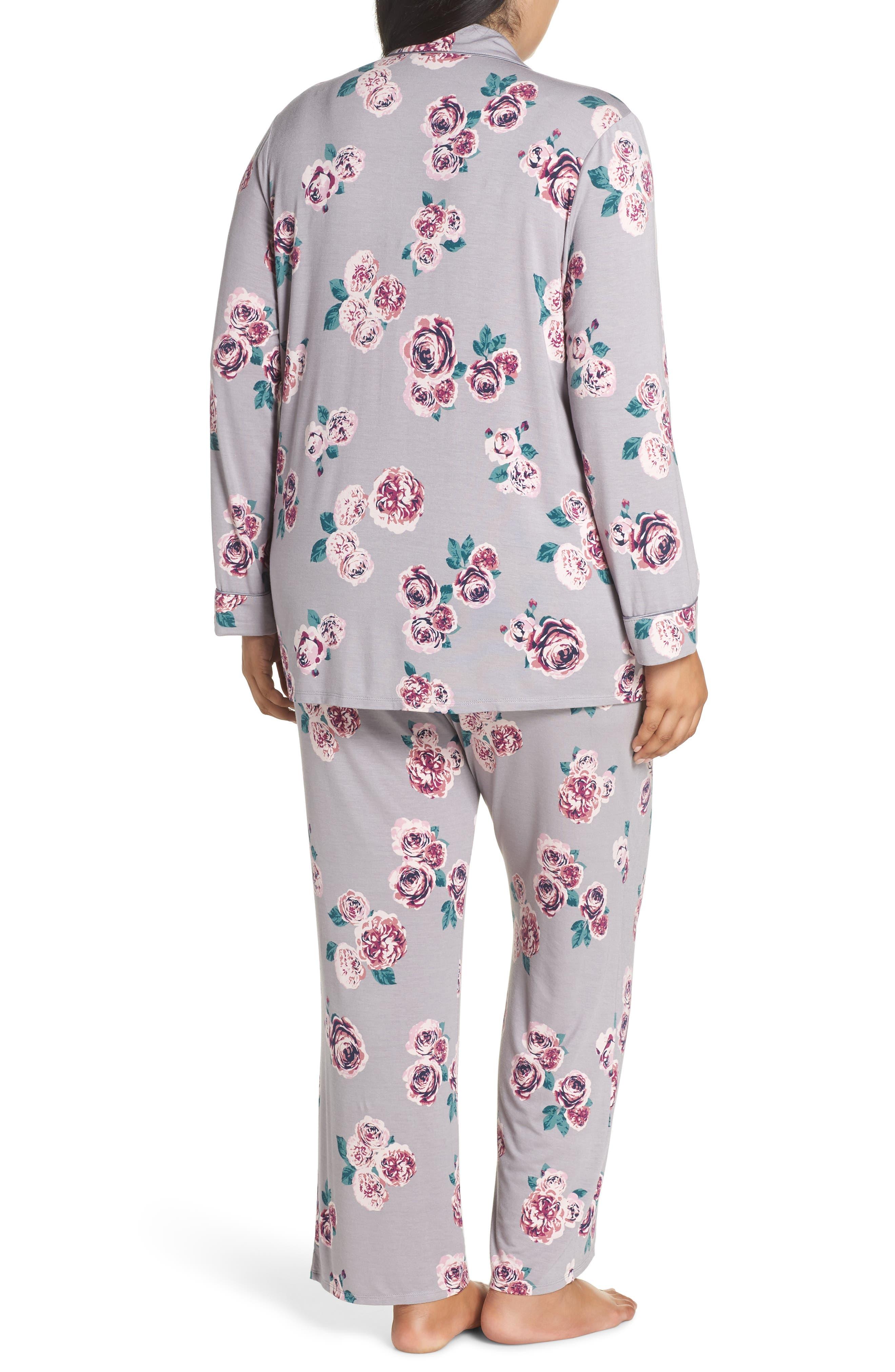 'Moonlight' Pajamas,                             Alternate thumbnail 2, color,                             GREY GULL HOLIDAY ROSE