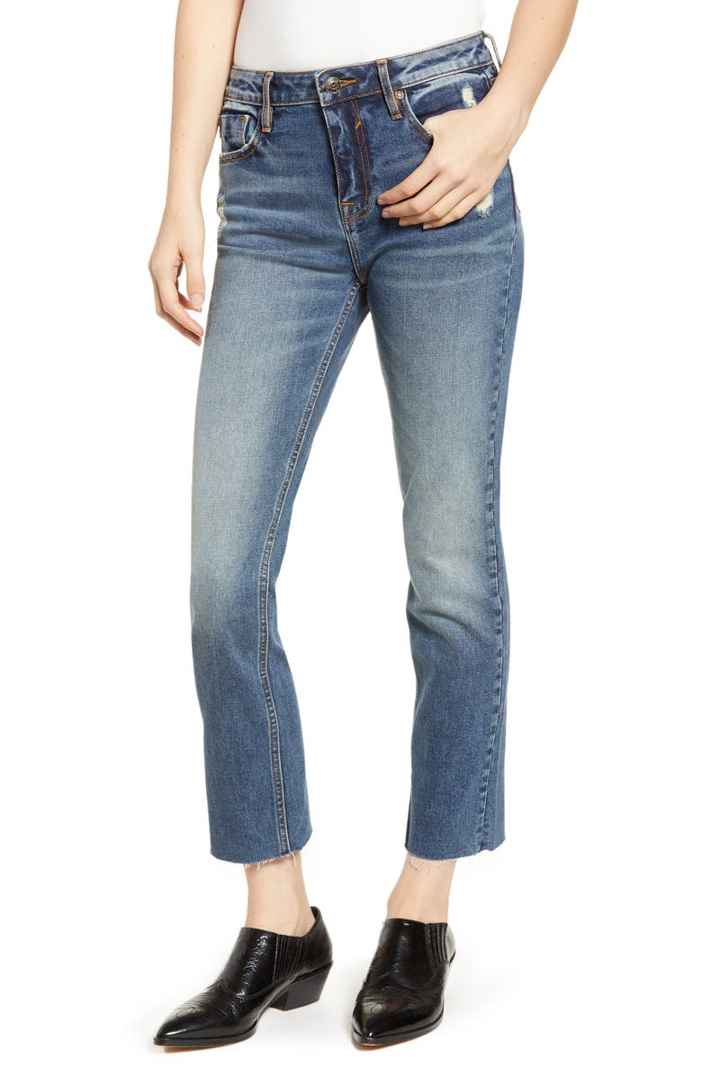 Vigoss Straight Leg Crop Jeans