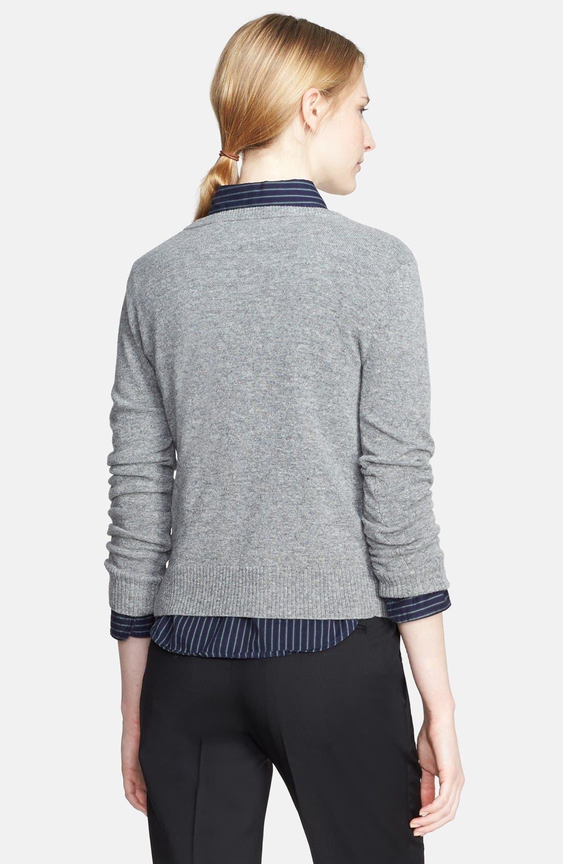 Eyelash Felted Wool Sweater,                             Alternate thumbnail 2, color,                             066