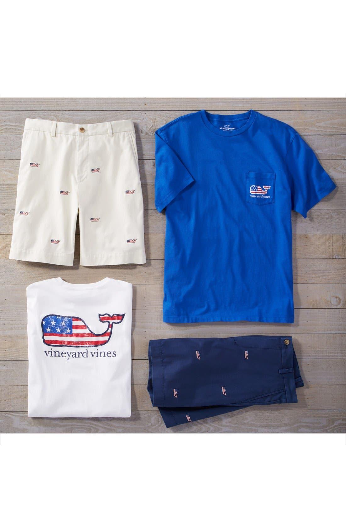 American Flag Whale Graphic T-Shirt,                             Alternate thumbnail 6, color,                             WHITE CAP