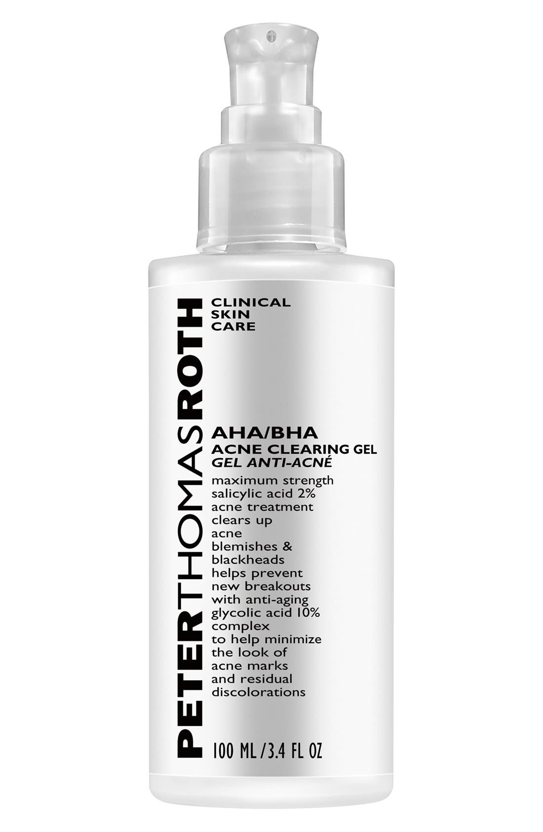 AHA/BHA Acne Clearing Gel,                             Alternate thumbnail 3, color,                             NO COLOR