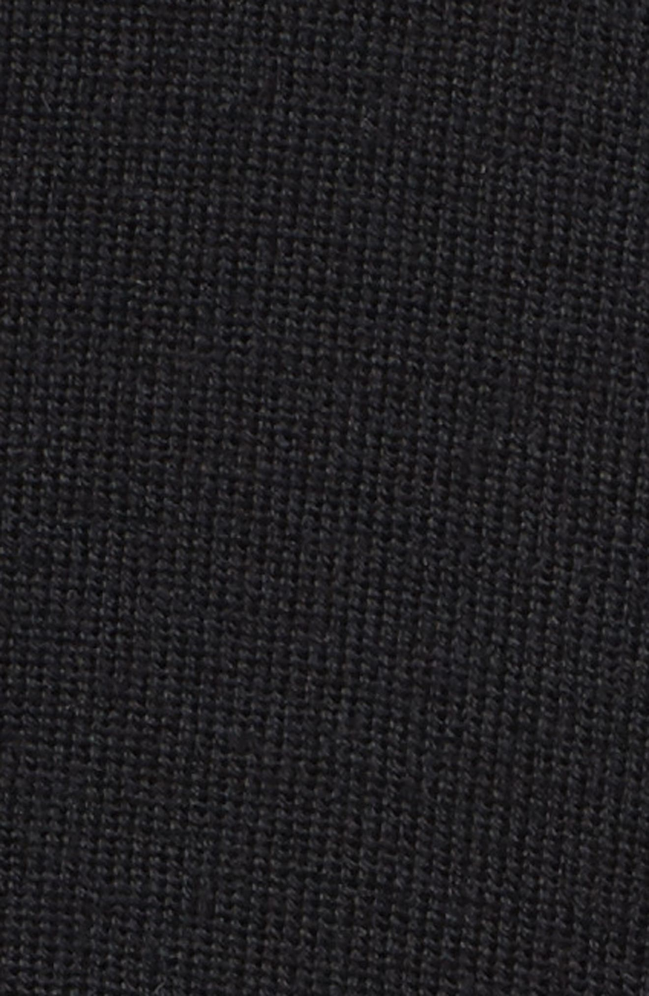 Long Merino Wool Cardigan,                             Alternate thumbnail 5, color,                             001