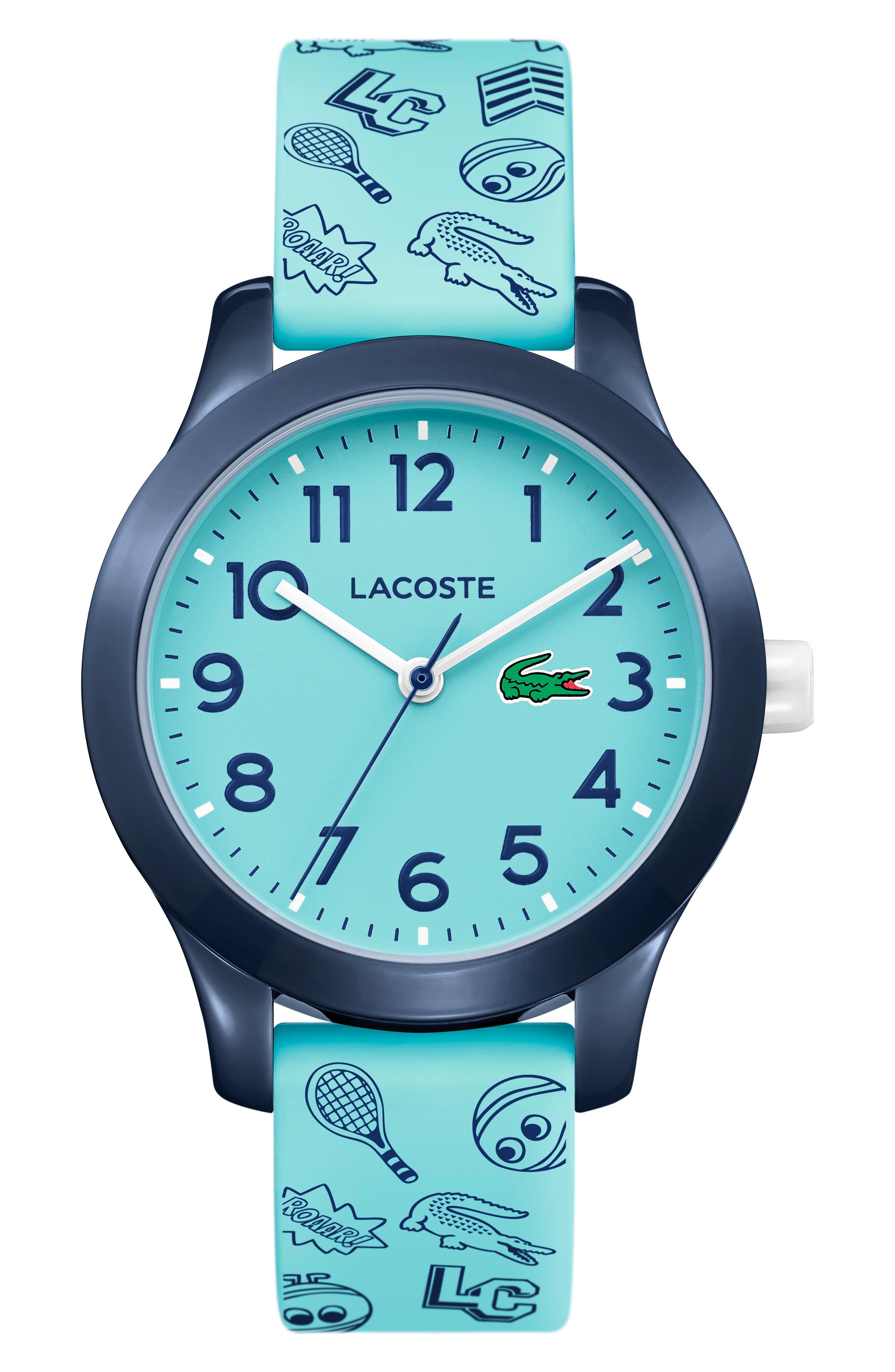 12.12 Rubber Strap Watch, 32mm,                             Main thumbnail 1, color,                             LIGHT BLUE/ NAVY