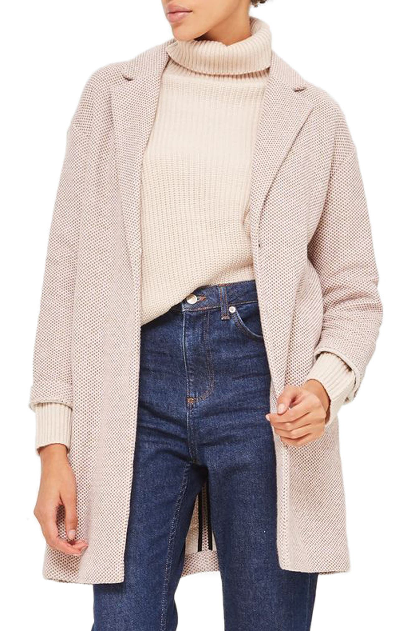 Textured Knit Coat,                             Main thumbnail 1, color,                             250