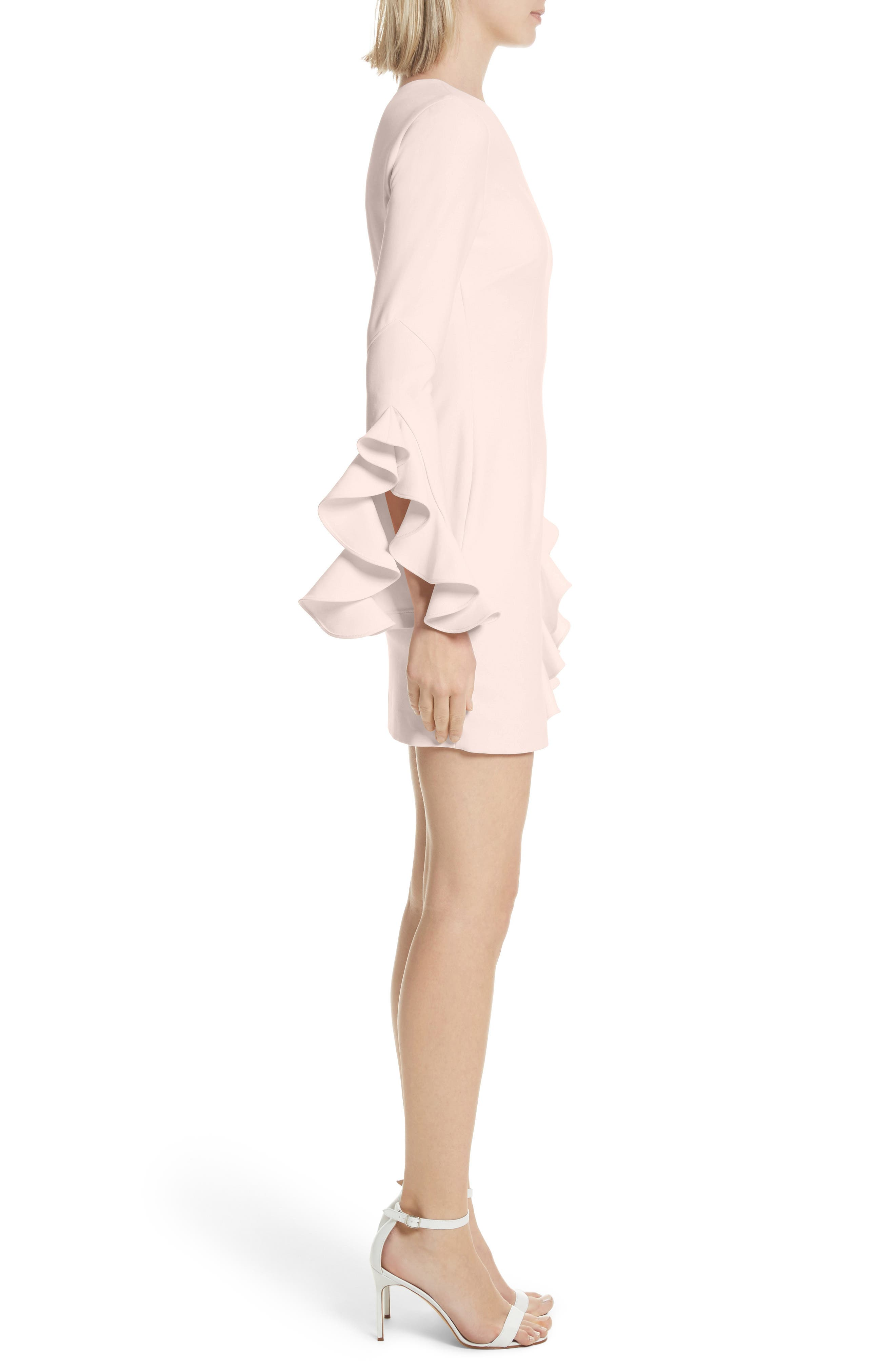 Pia Ruffle Trim One-Shoulder Dress,                             Alternate thumbnail 3, color,                             656