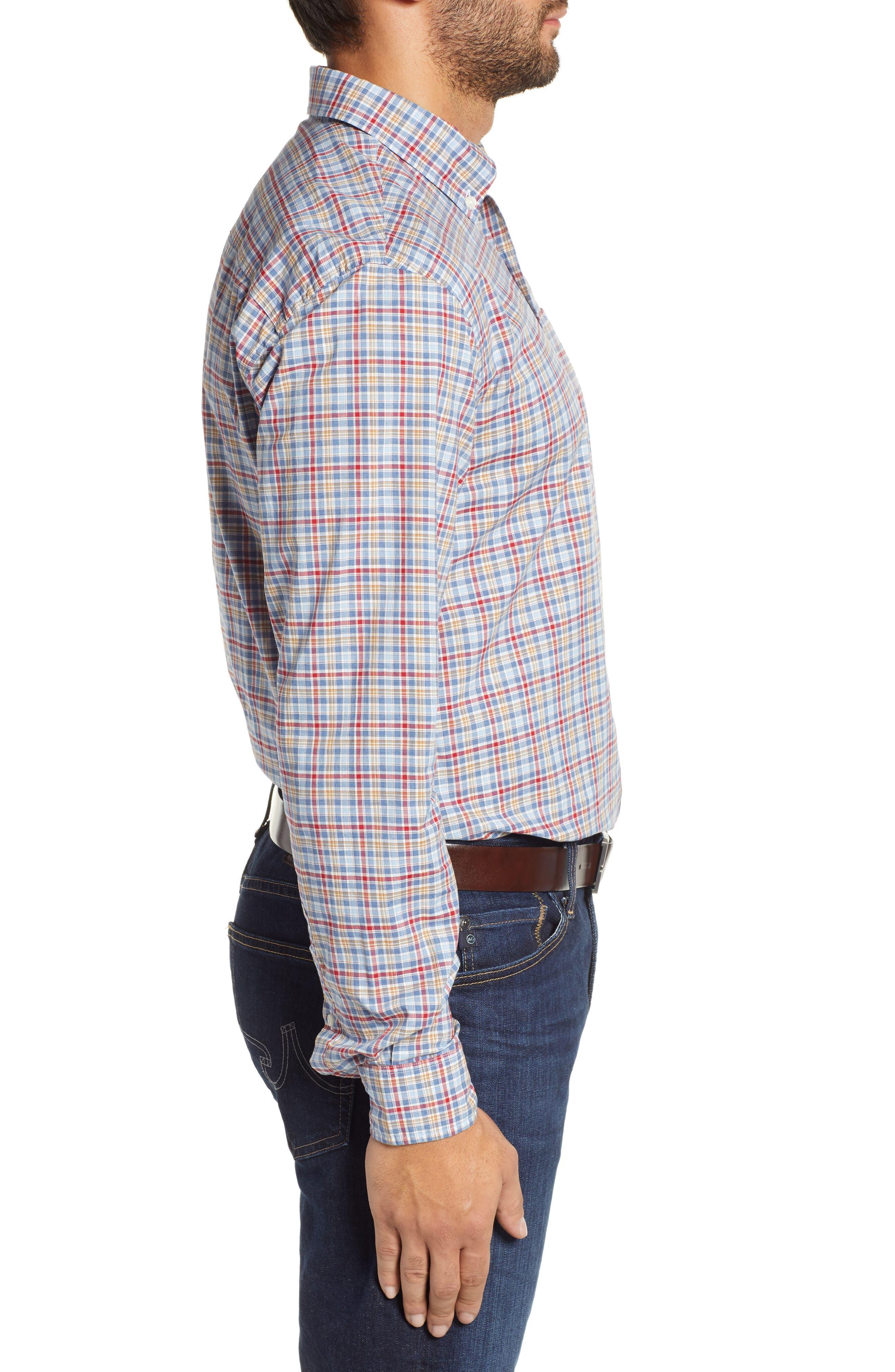 Ellis Classic Fit Sport Shirt,                             Alternate thumbnail 4, color,                             MARINER