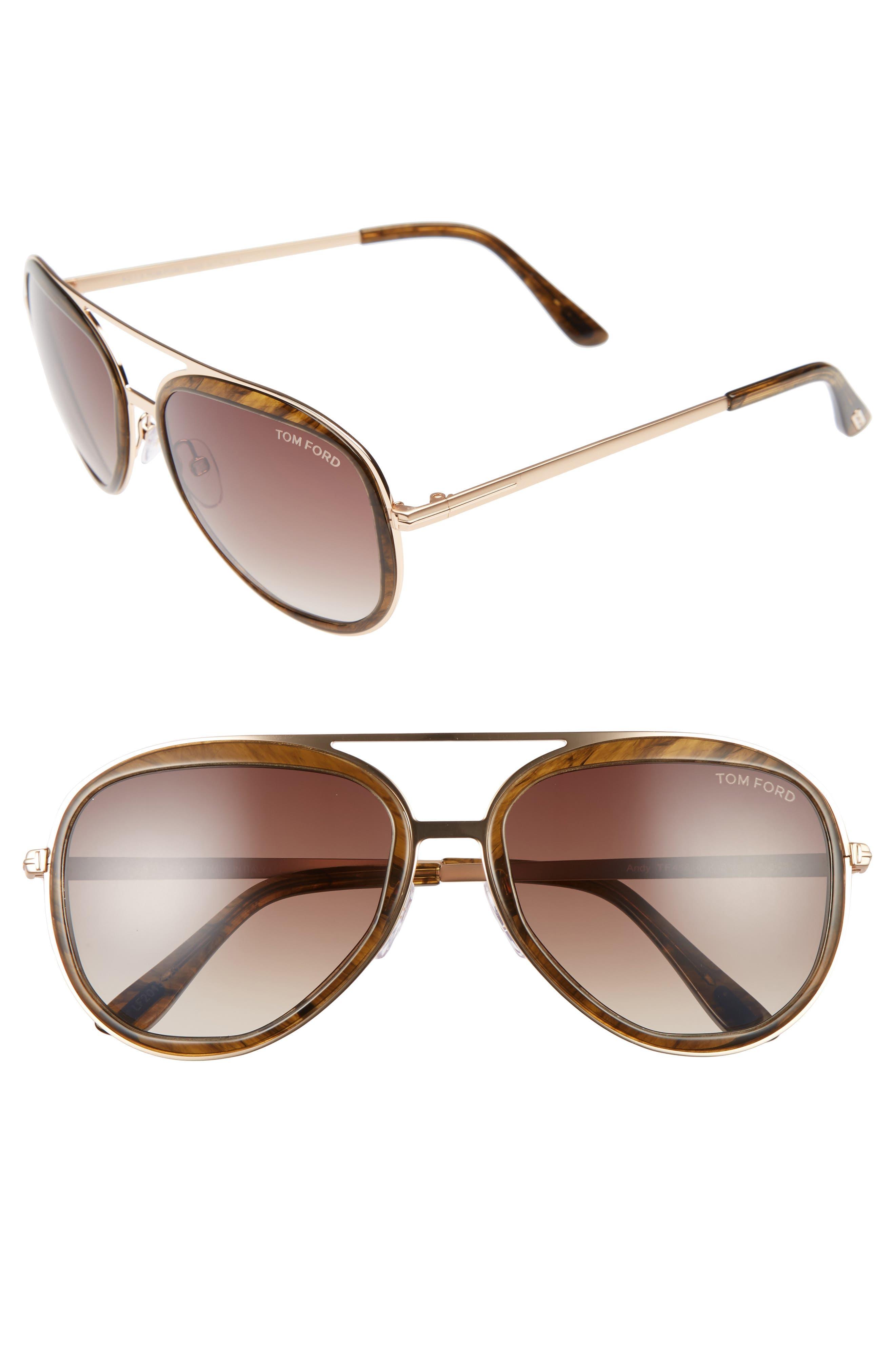 Andy 58mm Aviator Sunglasses,                             Main thumbnail 2, color,