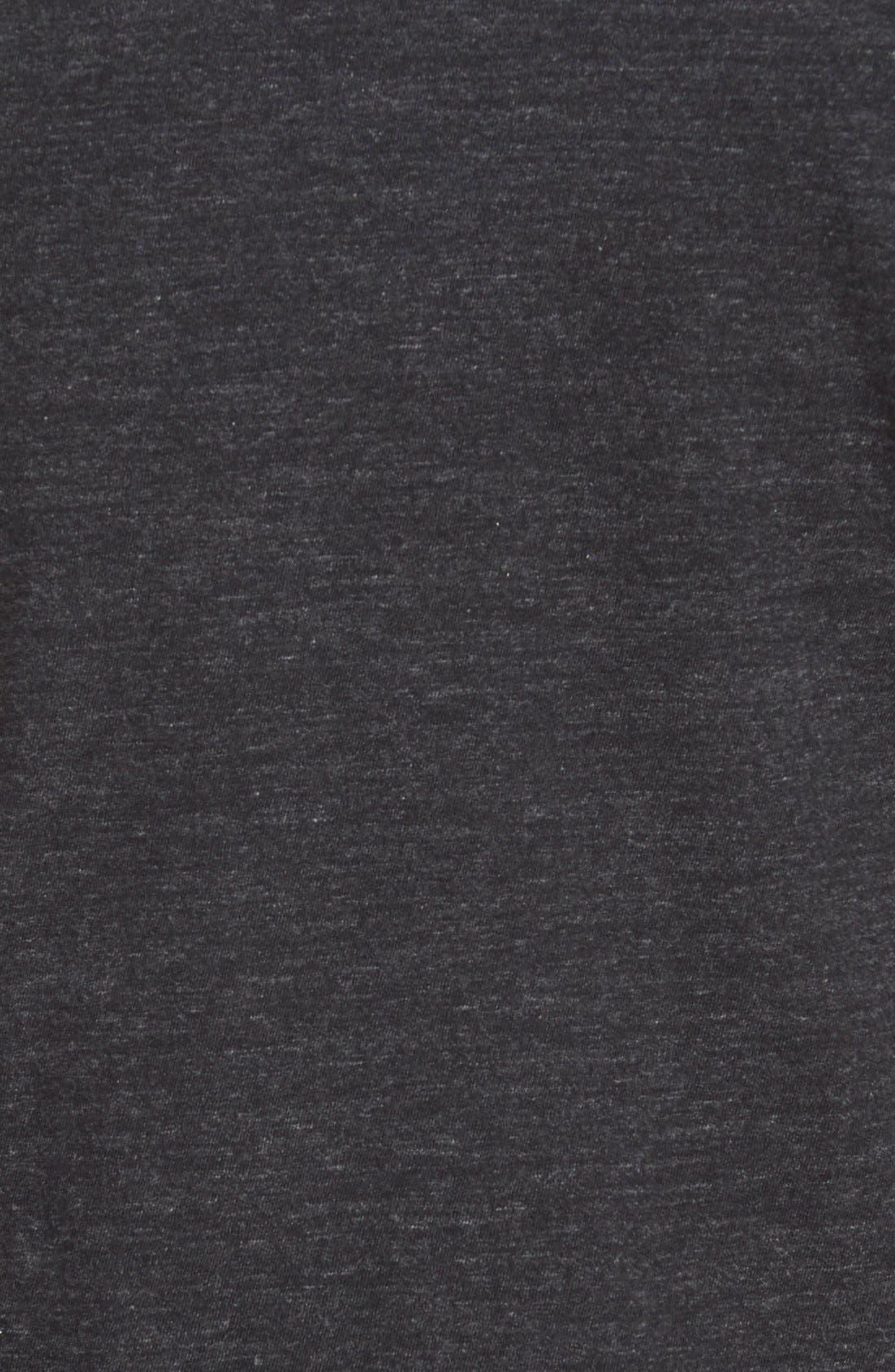 Double Face Jersey Pocket Crewneck T-Shirt,                             Alternate thumbnail 3, color,                             001