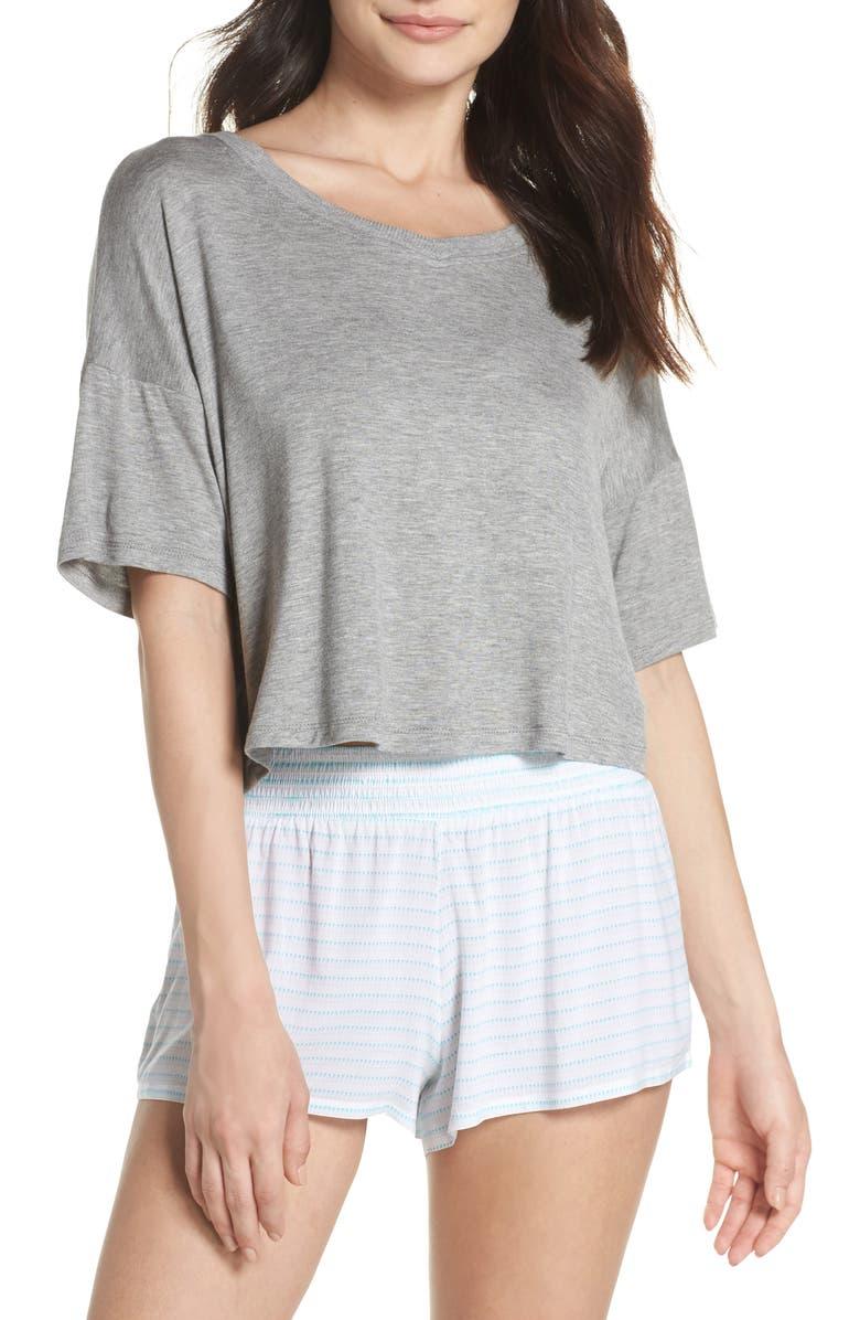 5579a6609d Honeydew Intimates Rayon Tee   Woven Short Pajamas