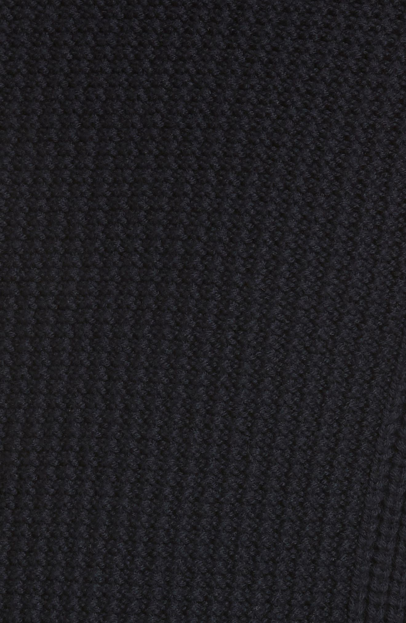 Ribbed Merino Wool Turtleneck Sweater,                             Alternate thumbnail 5, color,                             NAVY