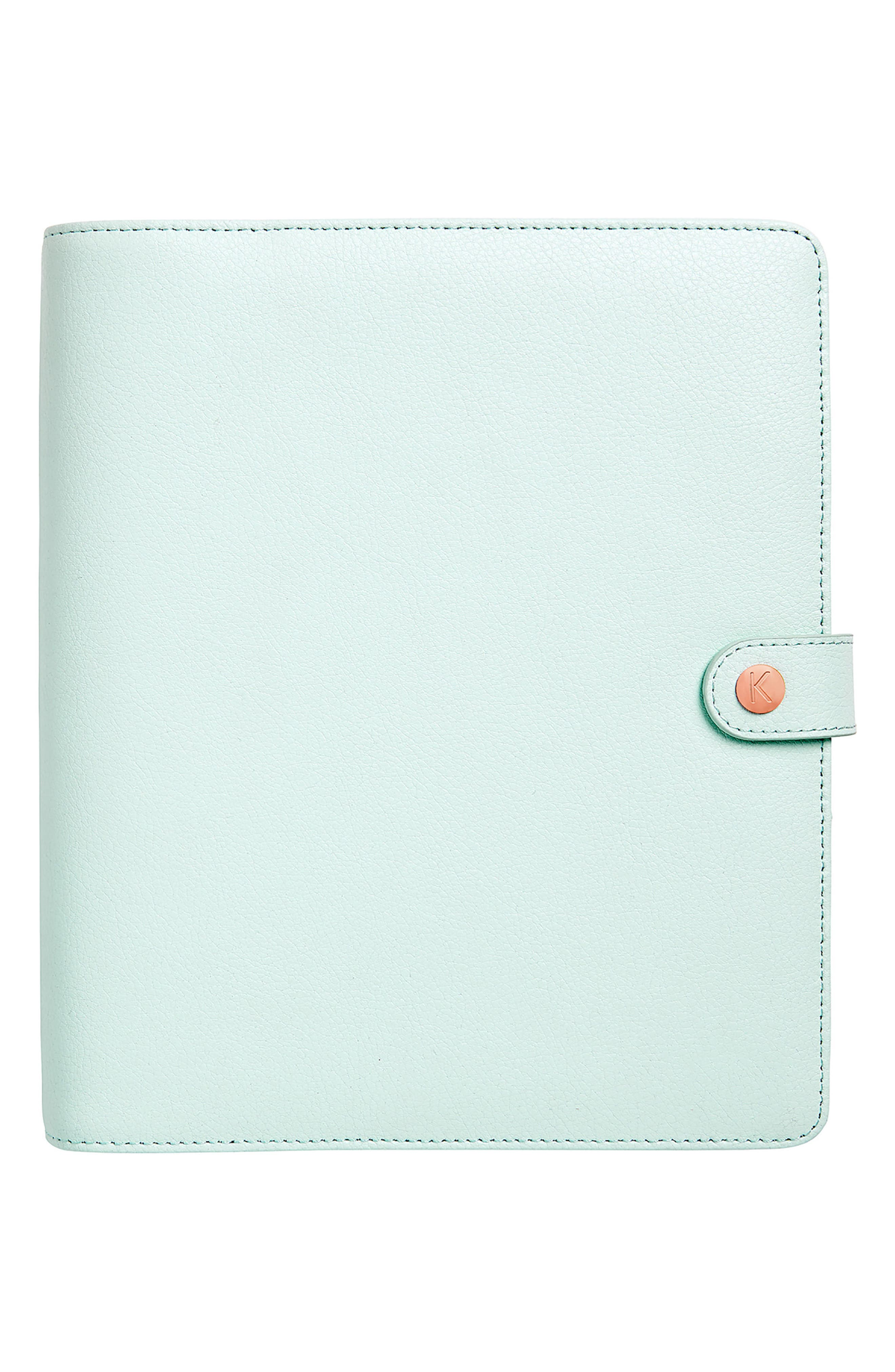 Large Leather 18-Month Perpetual Planner,                             Main thumbnail 1, color,                             304