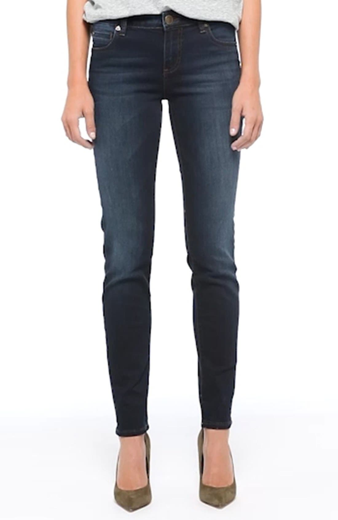 'Diana' Stretch Skinny Jeans,                             Alternate thumbnail 5, color,                             400