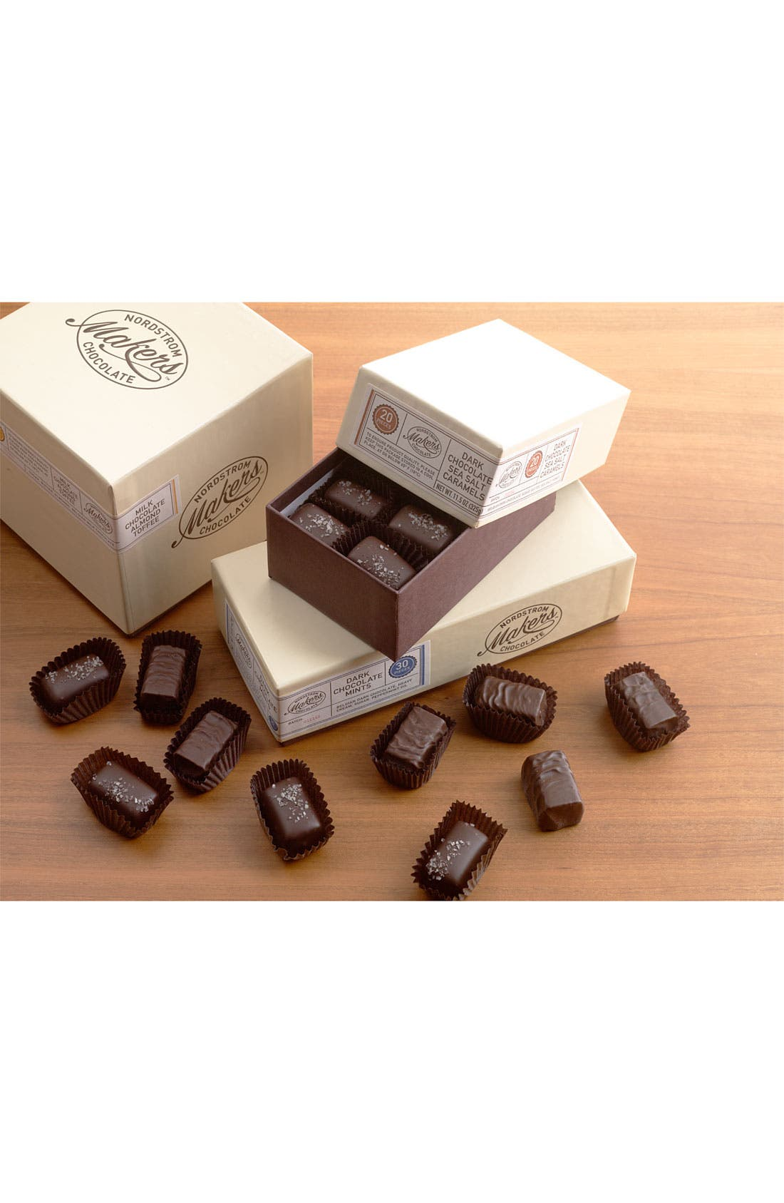 NORDSTROM MAKERS CHOCOLATE,                             Dark Chocolate Sea Salt Caramels,                             Alternate thumbnail 2, color,                             200