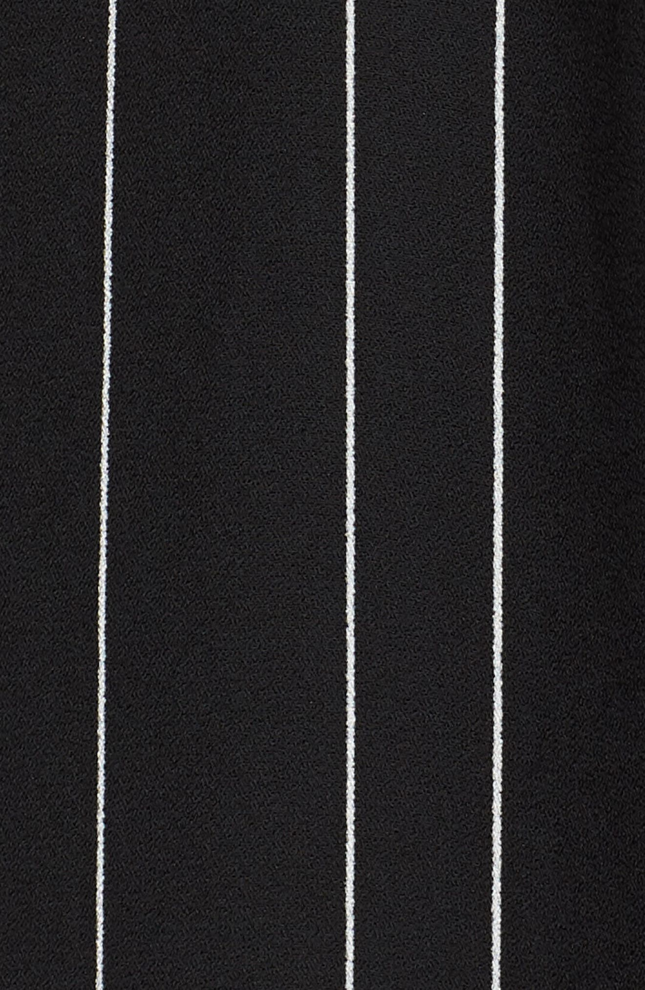 Dolman Sleeve Jumpsuit,                             Alternate thumbnail 6, color,                             BLACK TRACY STRIPE